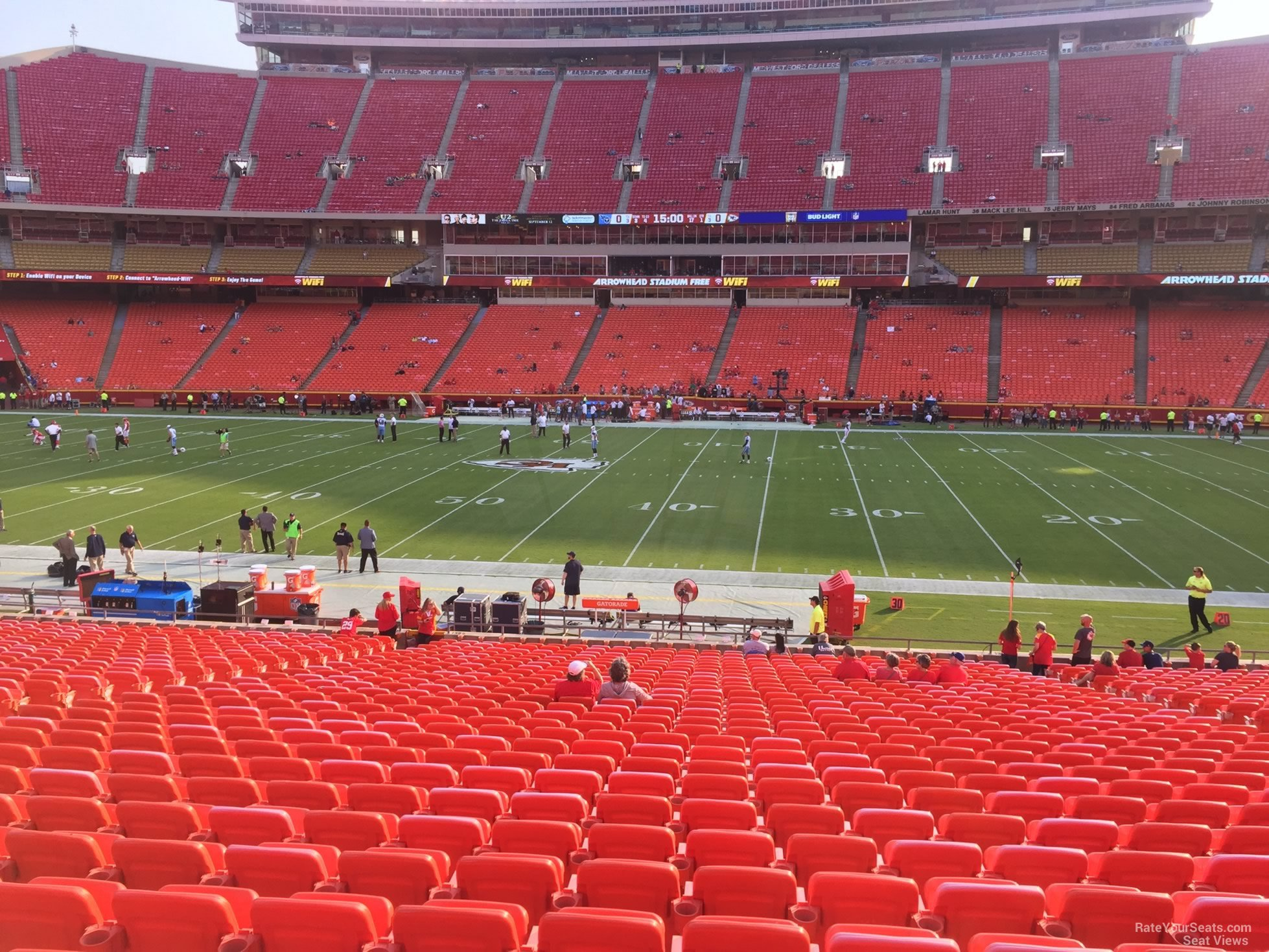Seat View for Arrowhead Stadium Section 136, Row 30