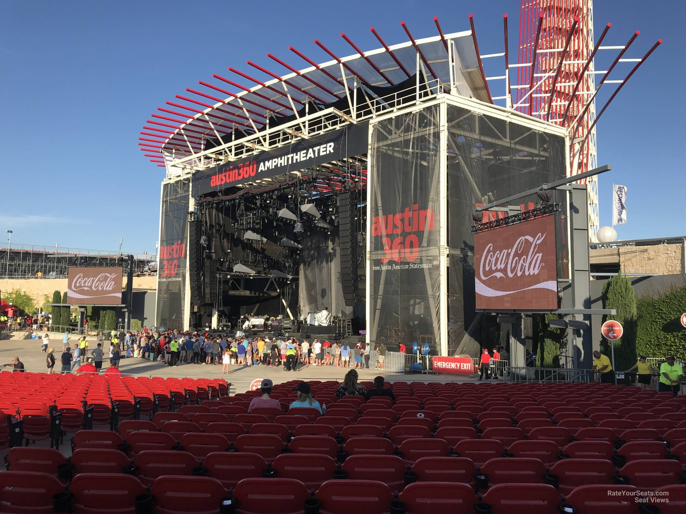 Concert Seat View for Austin360 Amphitheater Section 101, Row W
