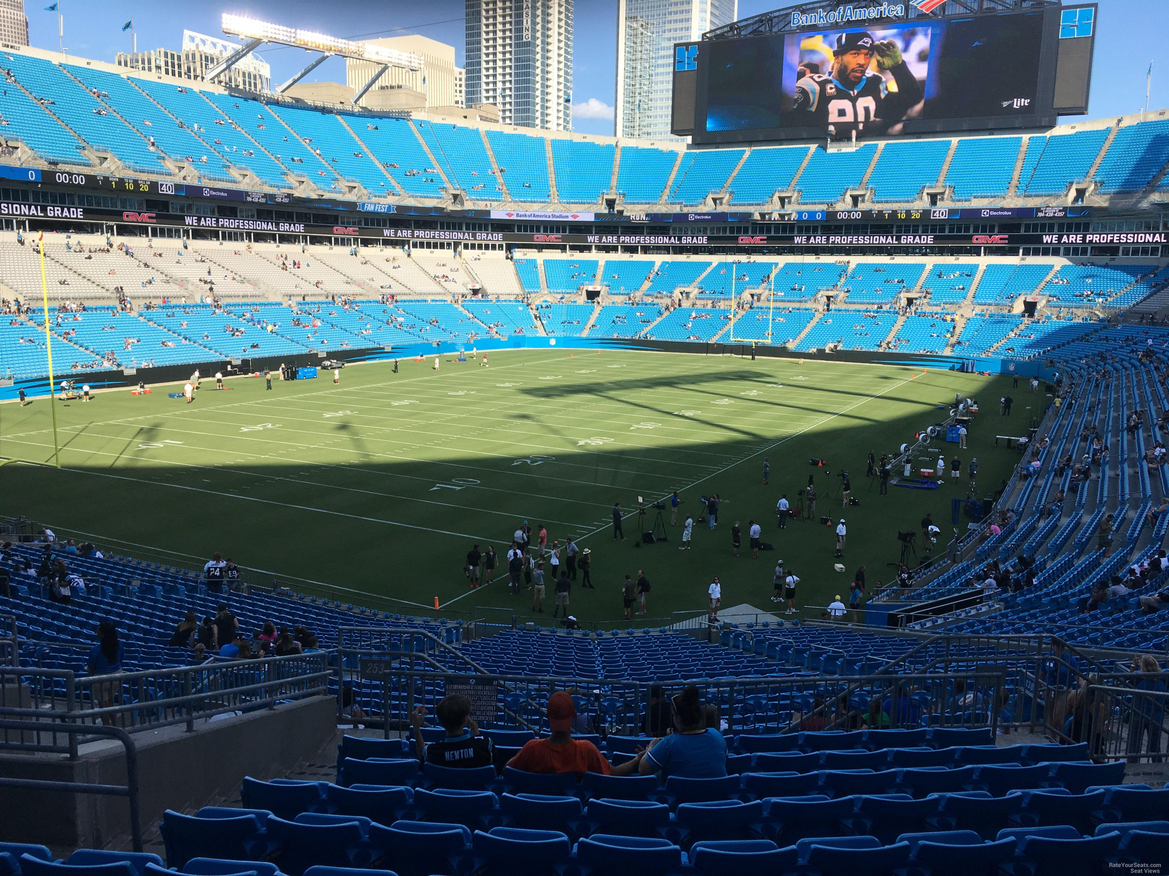 Bank Of America Stadium Section 253 Rateyourseatscom