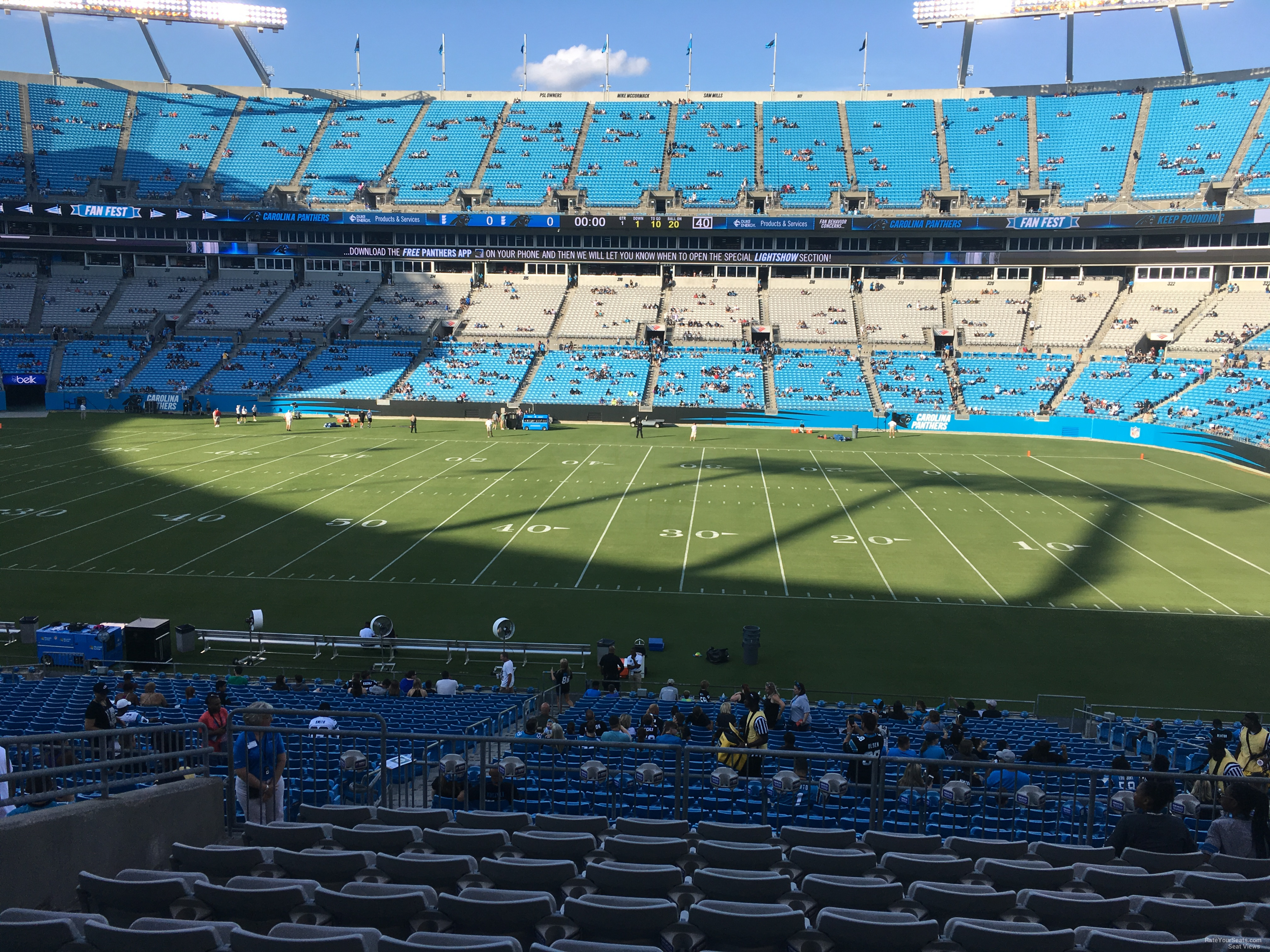 Bank Of America Stadium Section 342 Rateyourseatscom