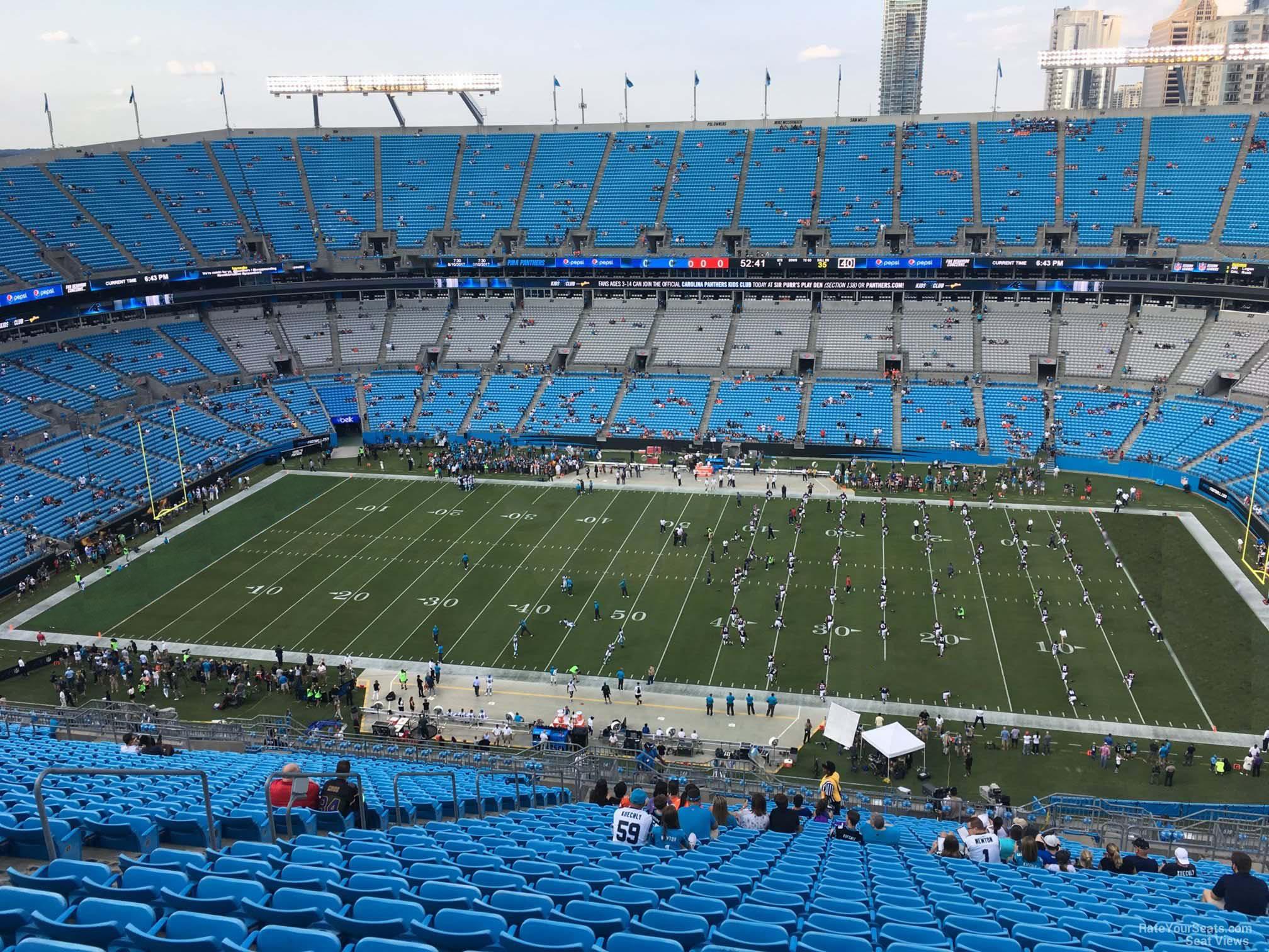 Bank Of America Stadium Section 540 Rateyourseatscom