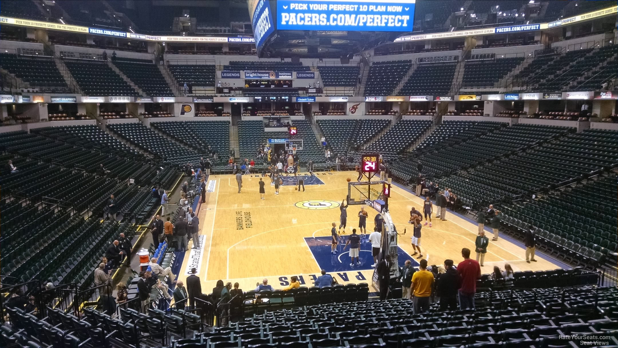 Seat View for Bankers Life Fieldhouse Section 1, Row 20