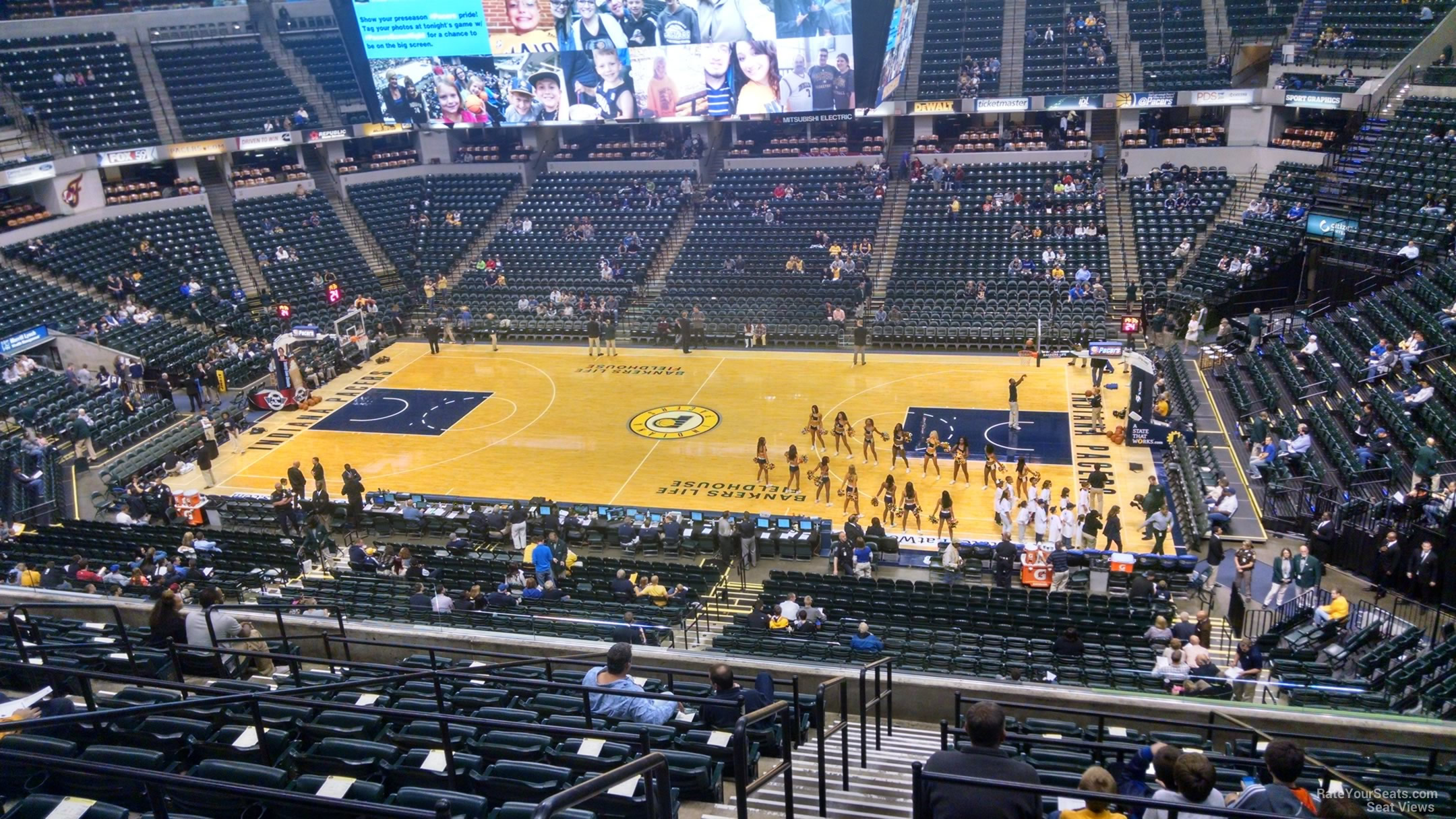 Seat View for Bankers Life Fieldhouse Section 103, Row 11