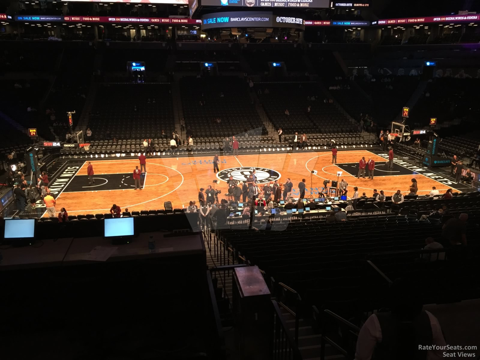 Brooklyn Nets Seat View for Barclays Center Section 109, Row 4