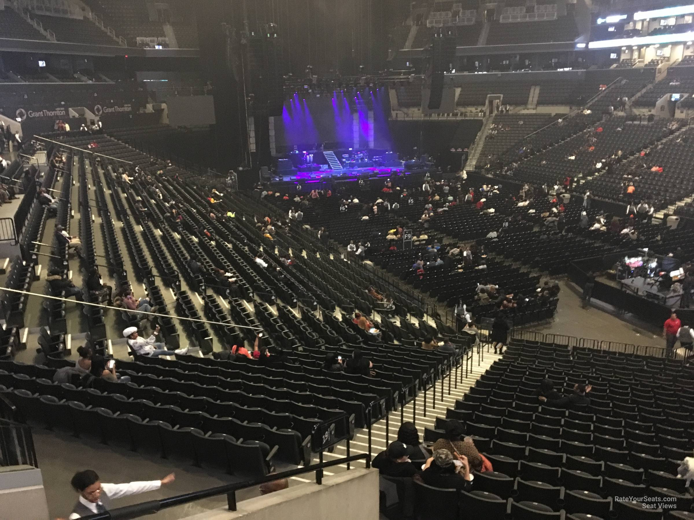 Concert Seat View for Barclays Center Section 120, Row 6
