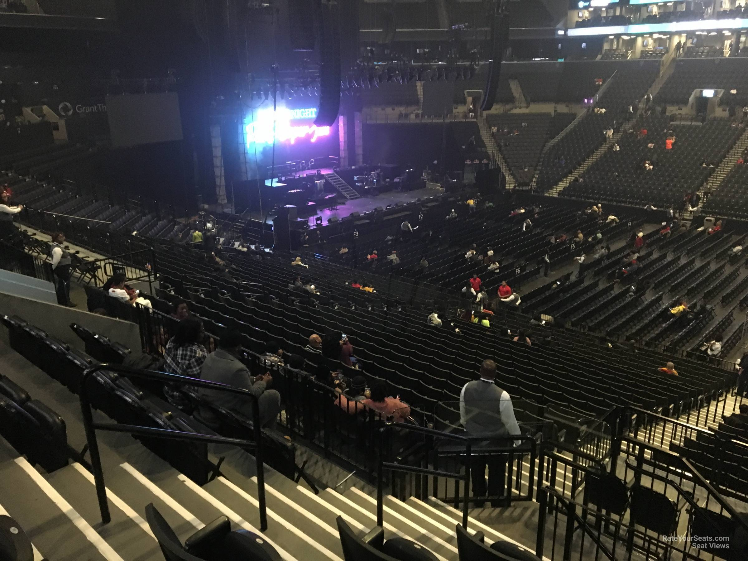 Concert Seat View for Barclays Center Section 123, Row 6