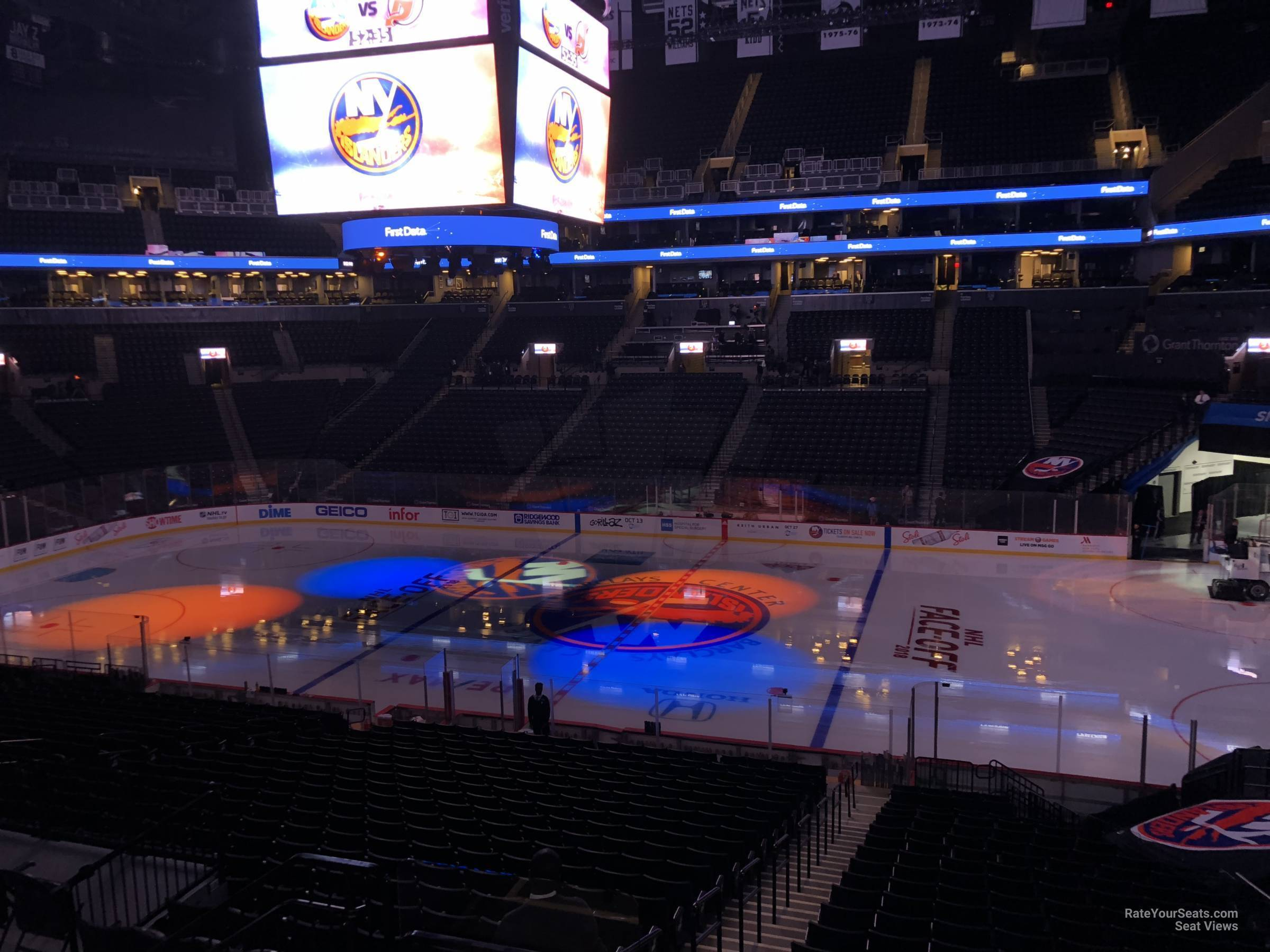 New York Islanders Seat View for Barclays Center Section 106, Row 7