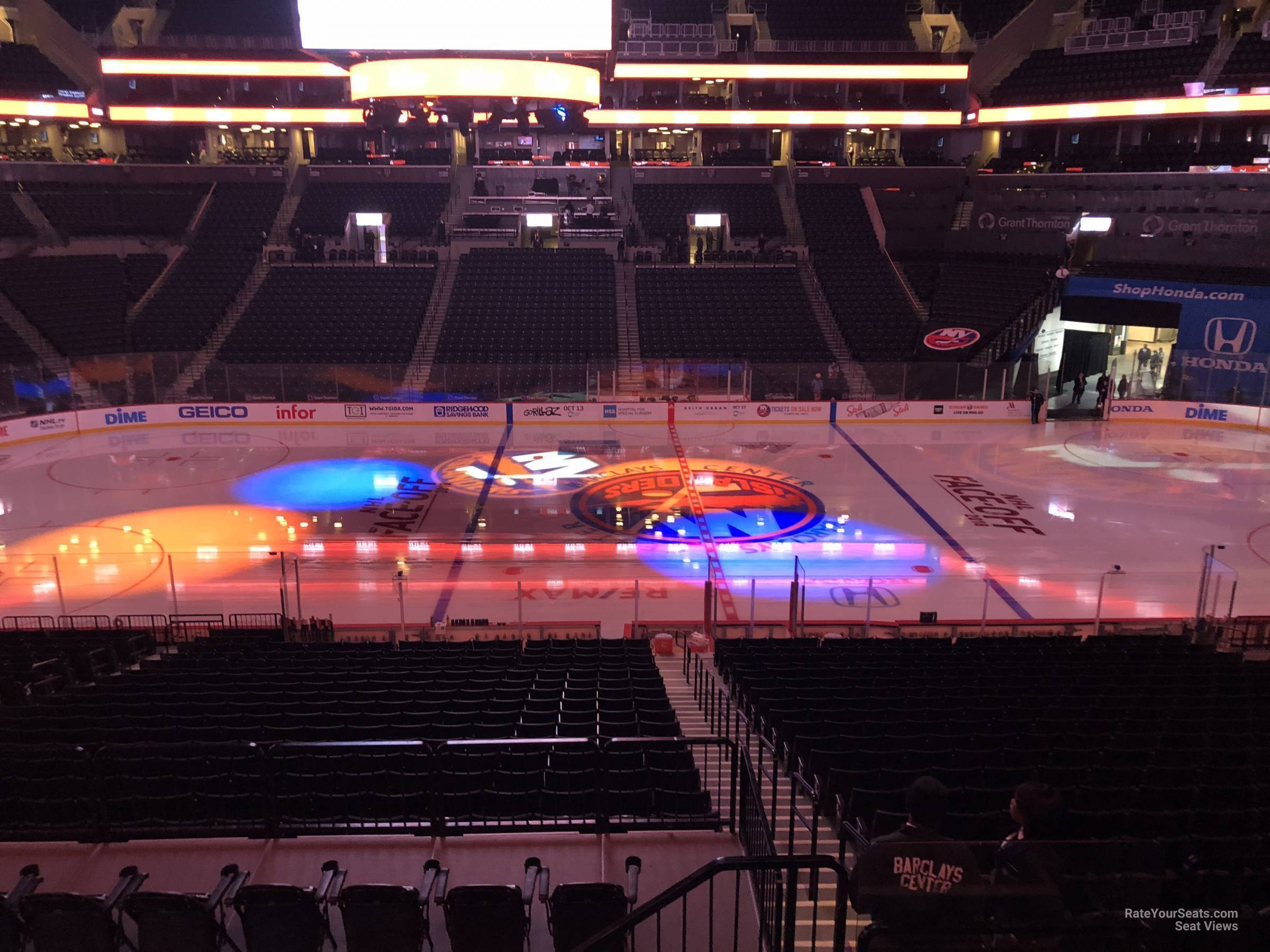 New York Islanders Seat View for Barclays Center Section 108, Row 7