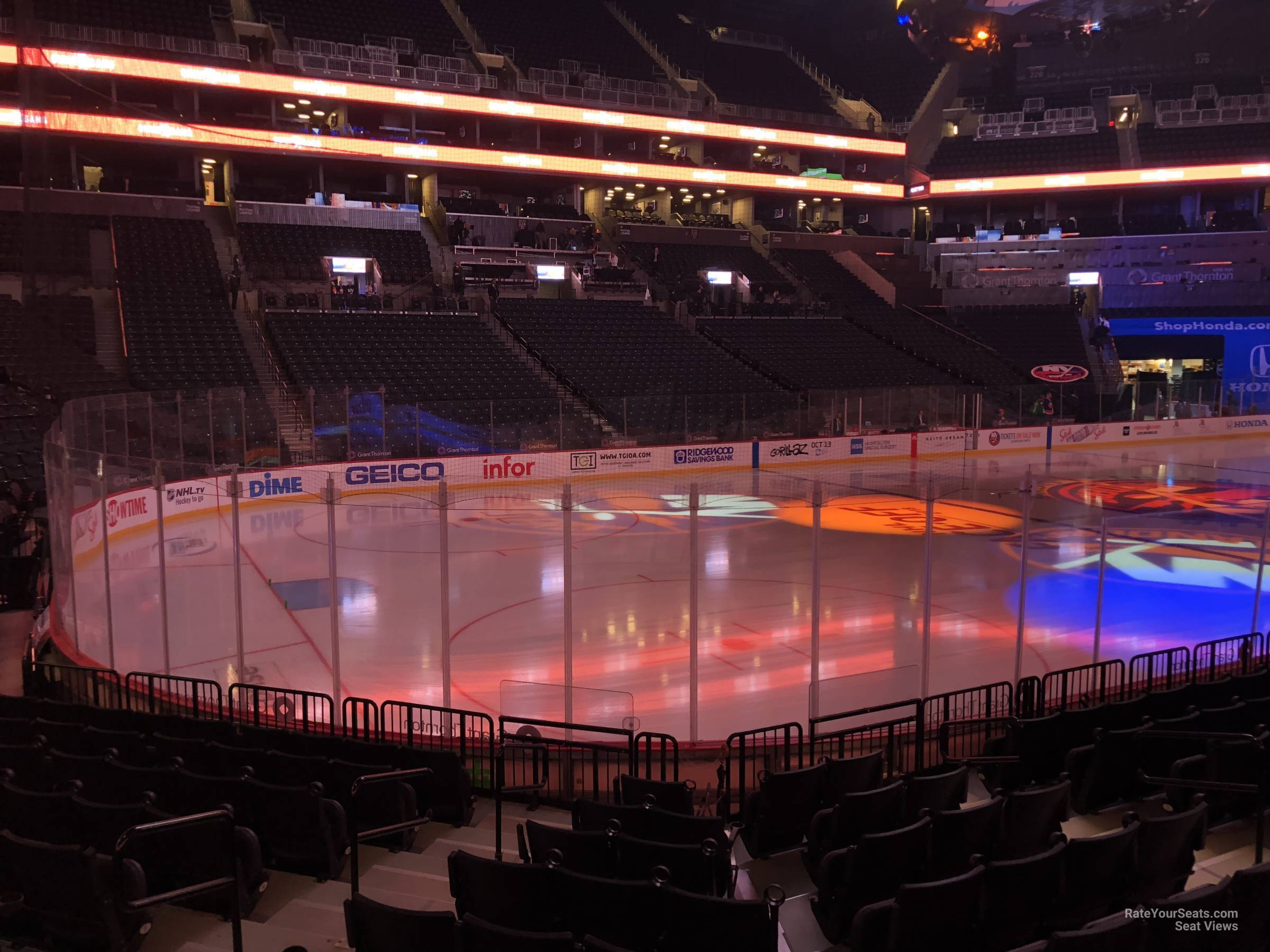 New York Islanders Seat View for Barclays Center Section 12, Row 10