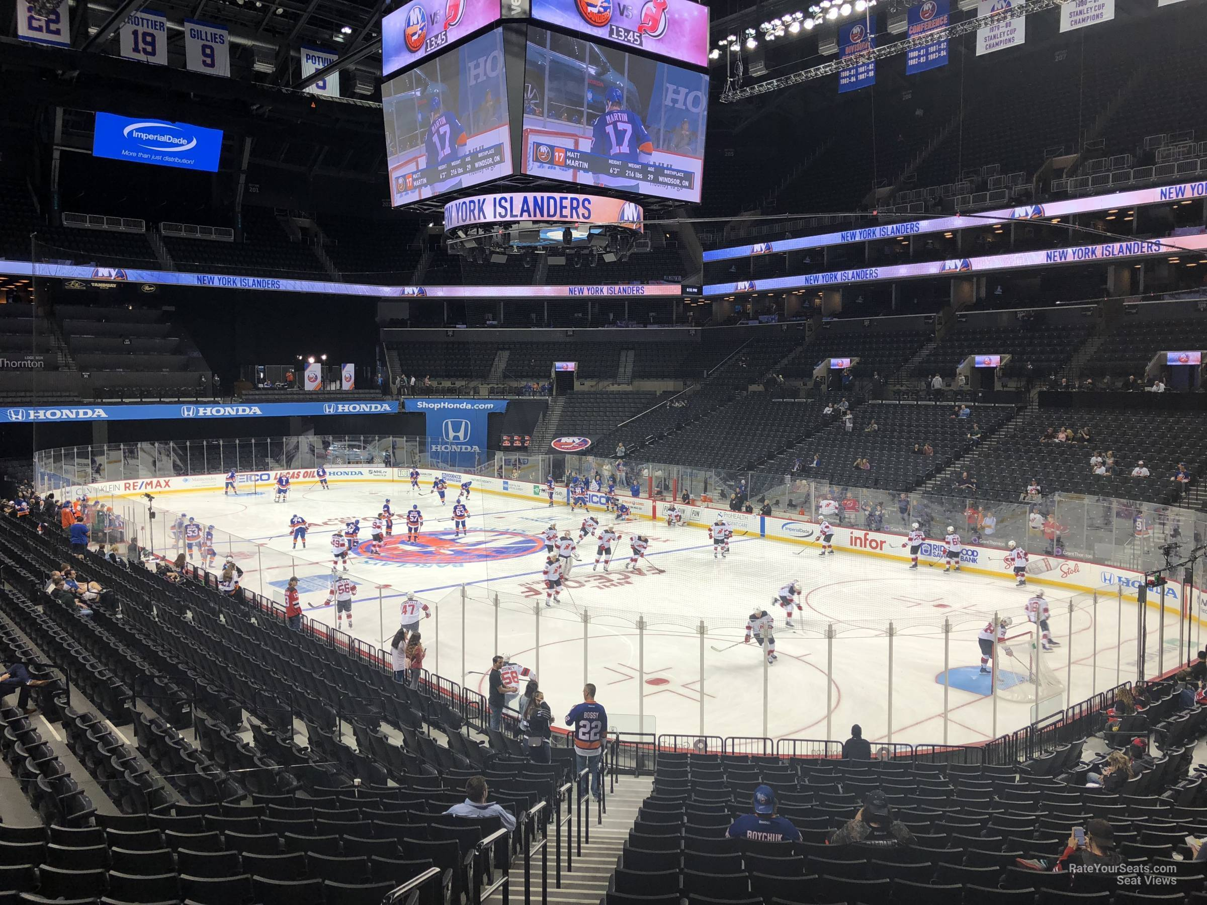 New York Islanders Seat View for Barclays Center Section 120, Row 7