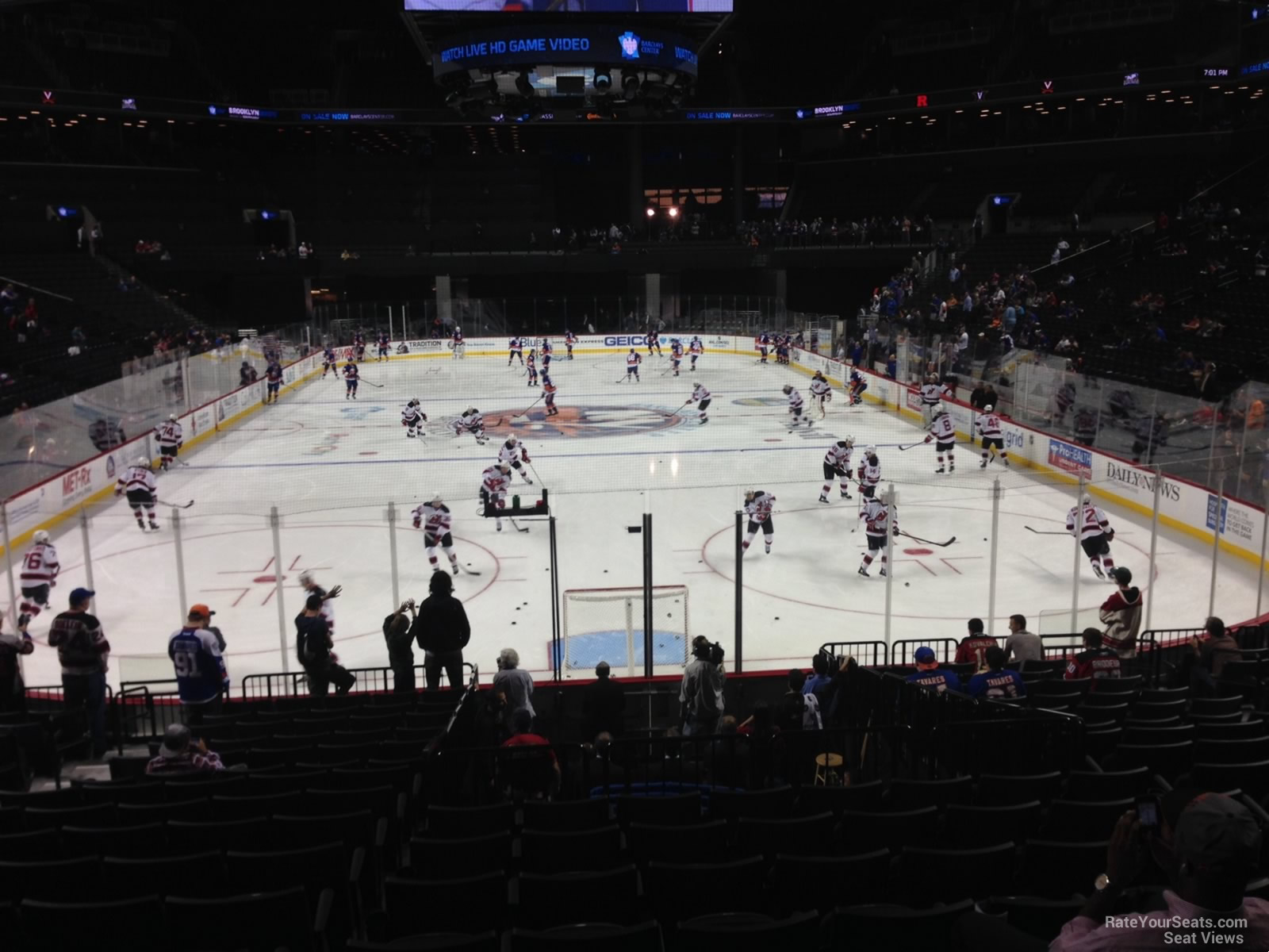 New York Islanders Seat View for Barclays Center Section 16, Row 17