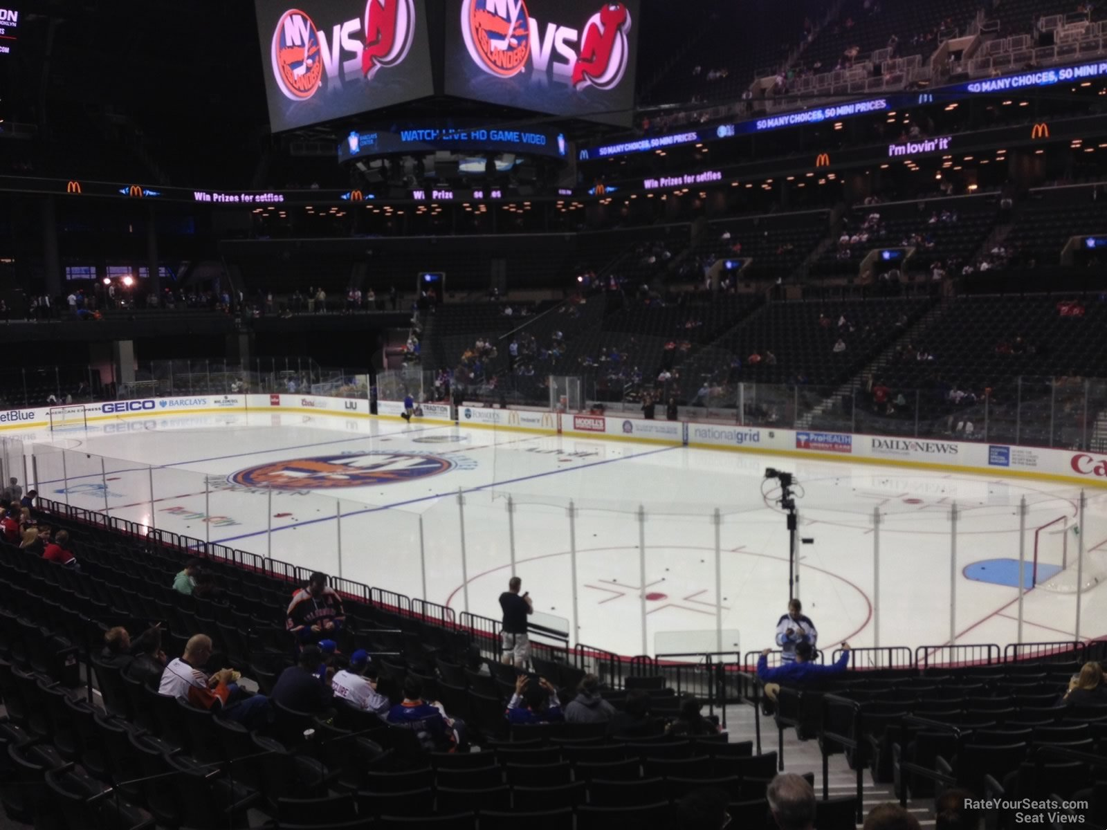 New York Islanders Seat View for Barclays Center Section 20, Row 17