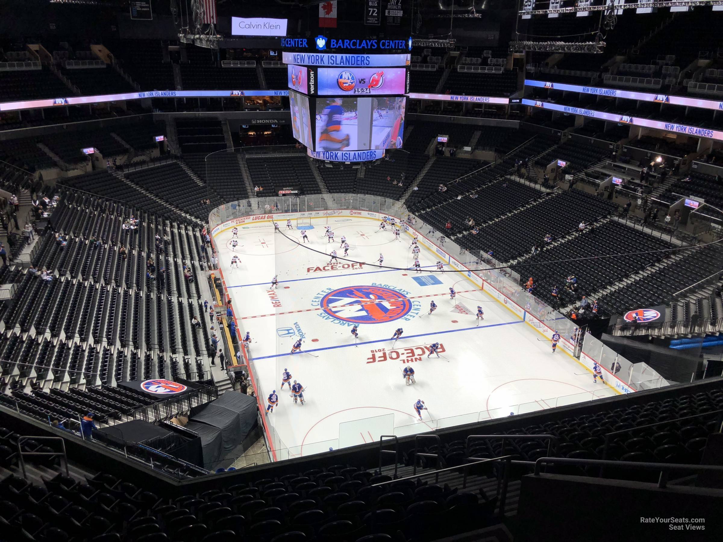 New York Islanders Seat View for Barclays Center Section 202, Row 13