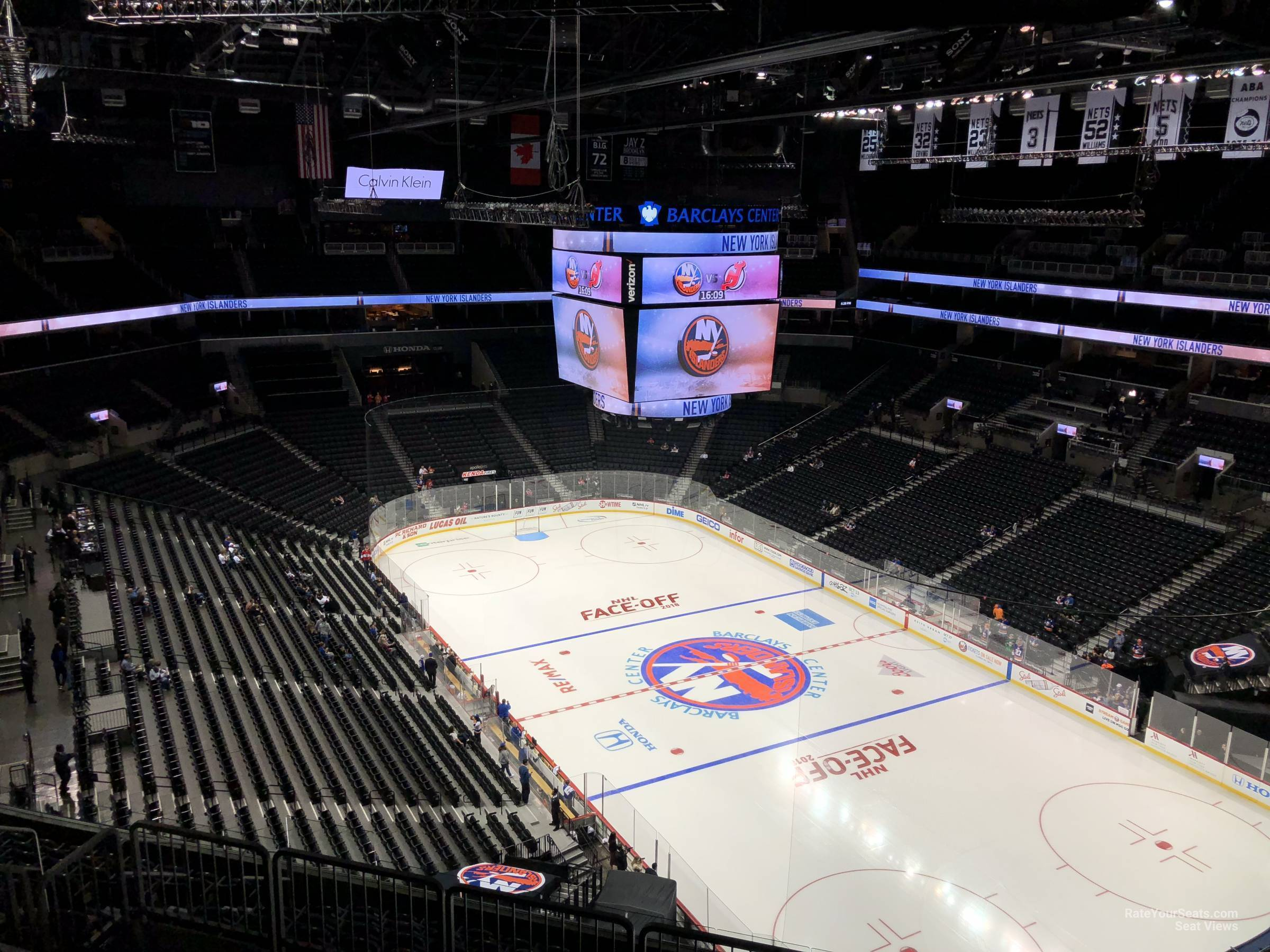 New York Islanders Seat View for Barclays Center Section 203, Row 13