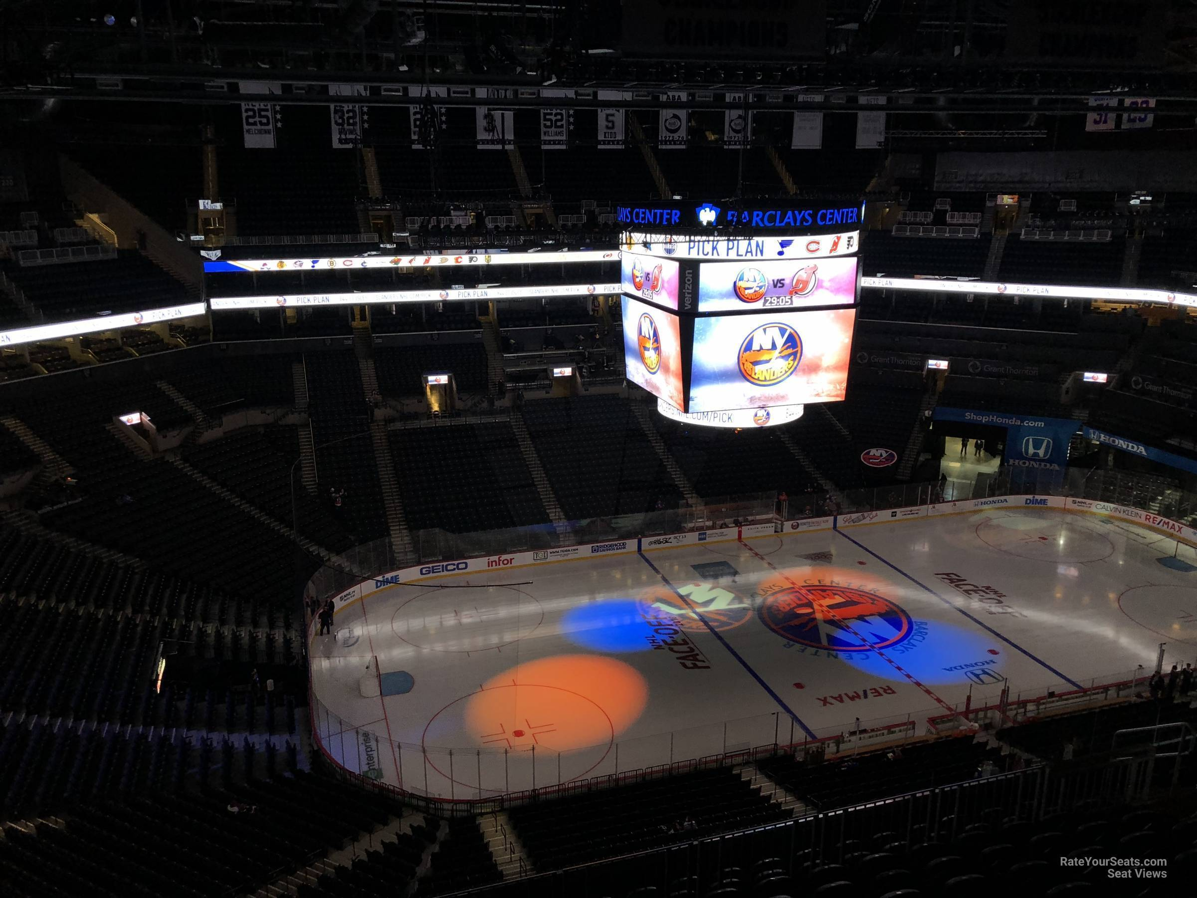 New York Islanders Seat View for Barclays Center Section 210, Row 11