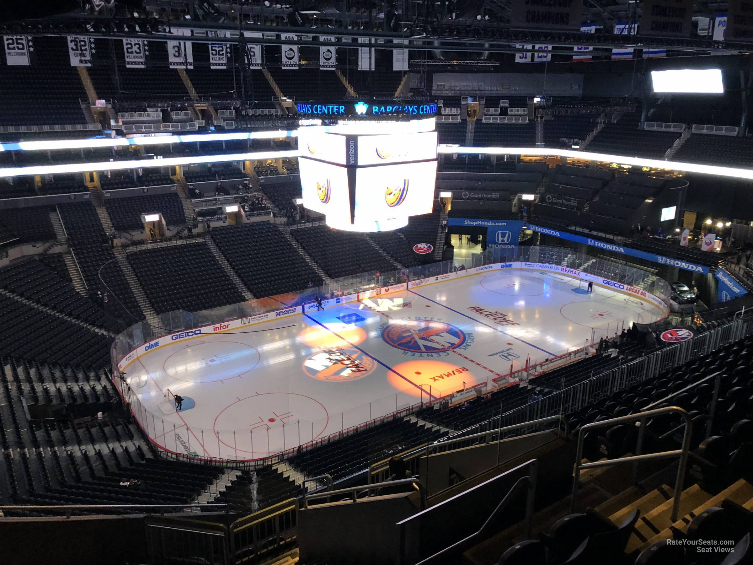 New York Islanders Seat View for Barclays Center Section 211, Row 11