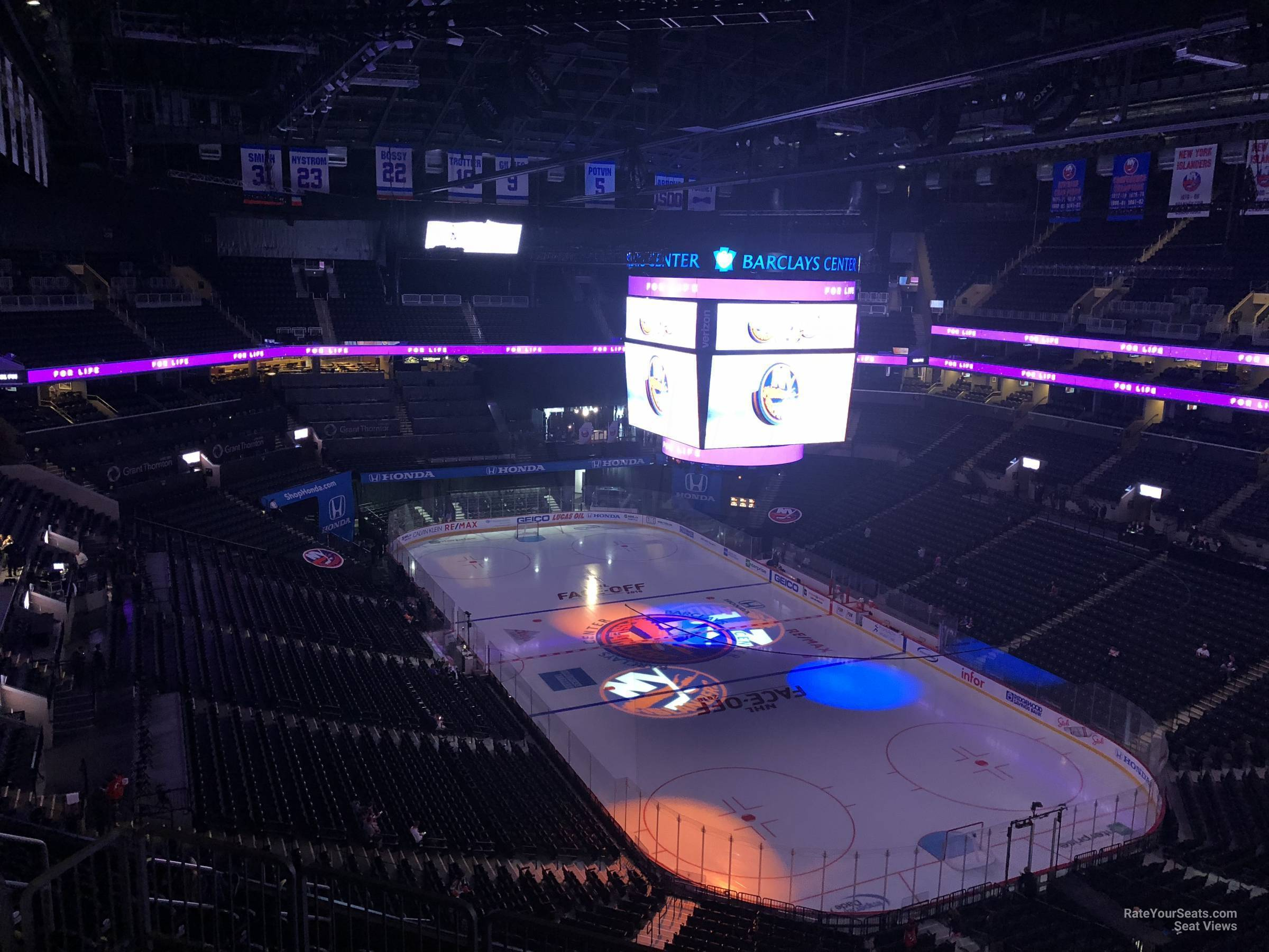 New York Islanders Seat View for Barclays Center Section 219, Row 13