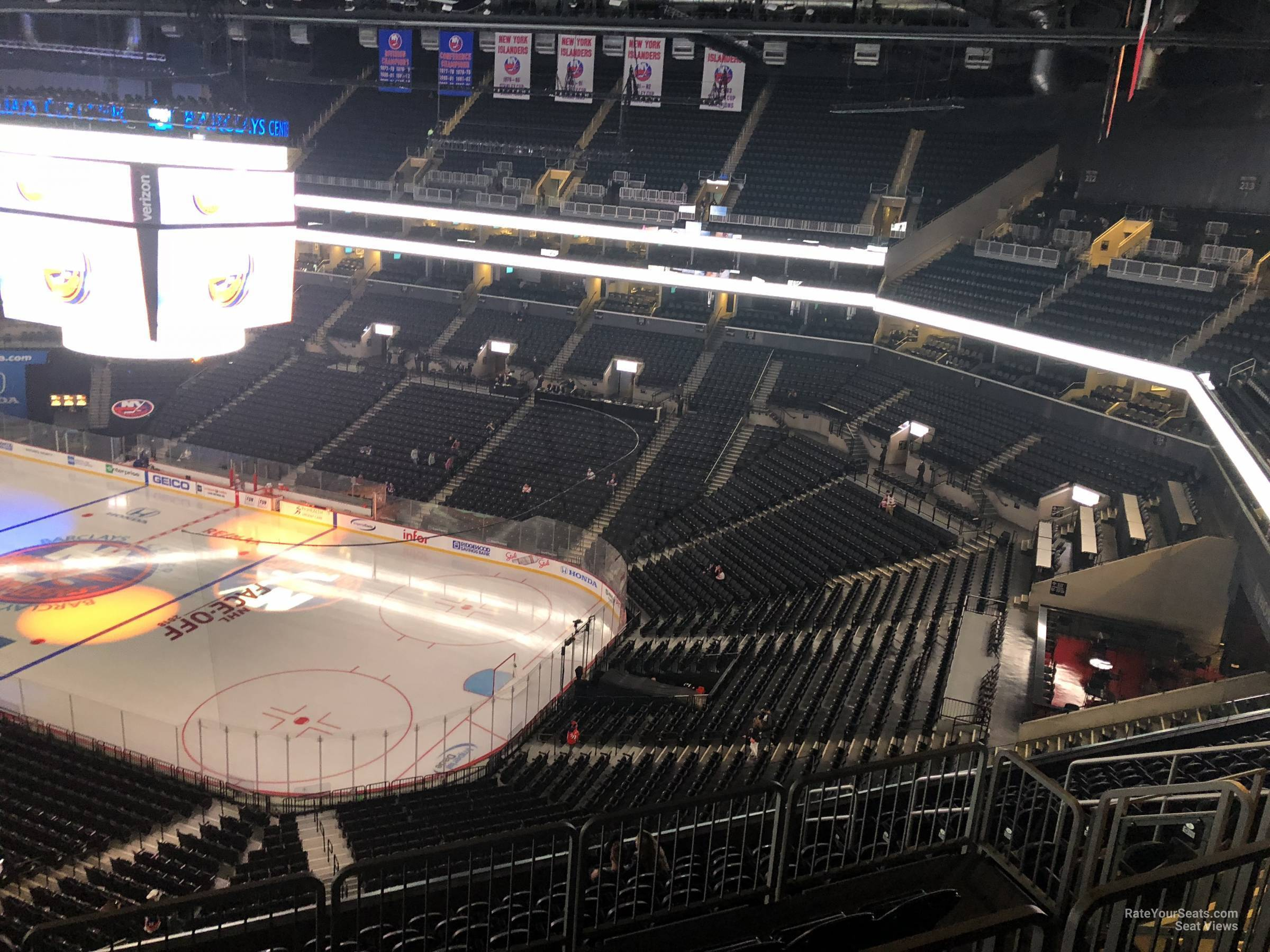 New York Islanders Seat View for Barclays Center Section 220, Row 13