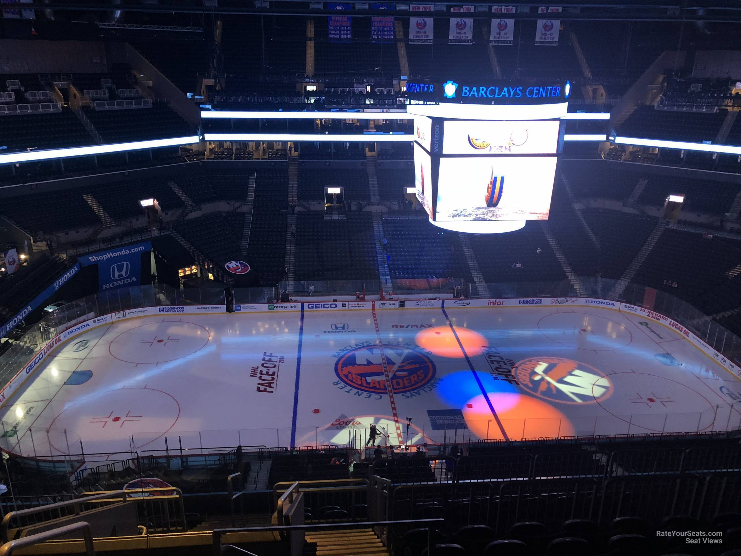 New York Islanders Seat View for Barclays Center Section 225, Row 11