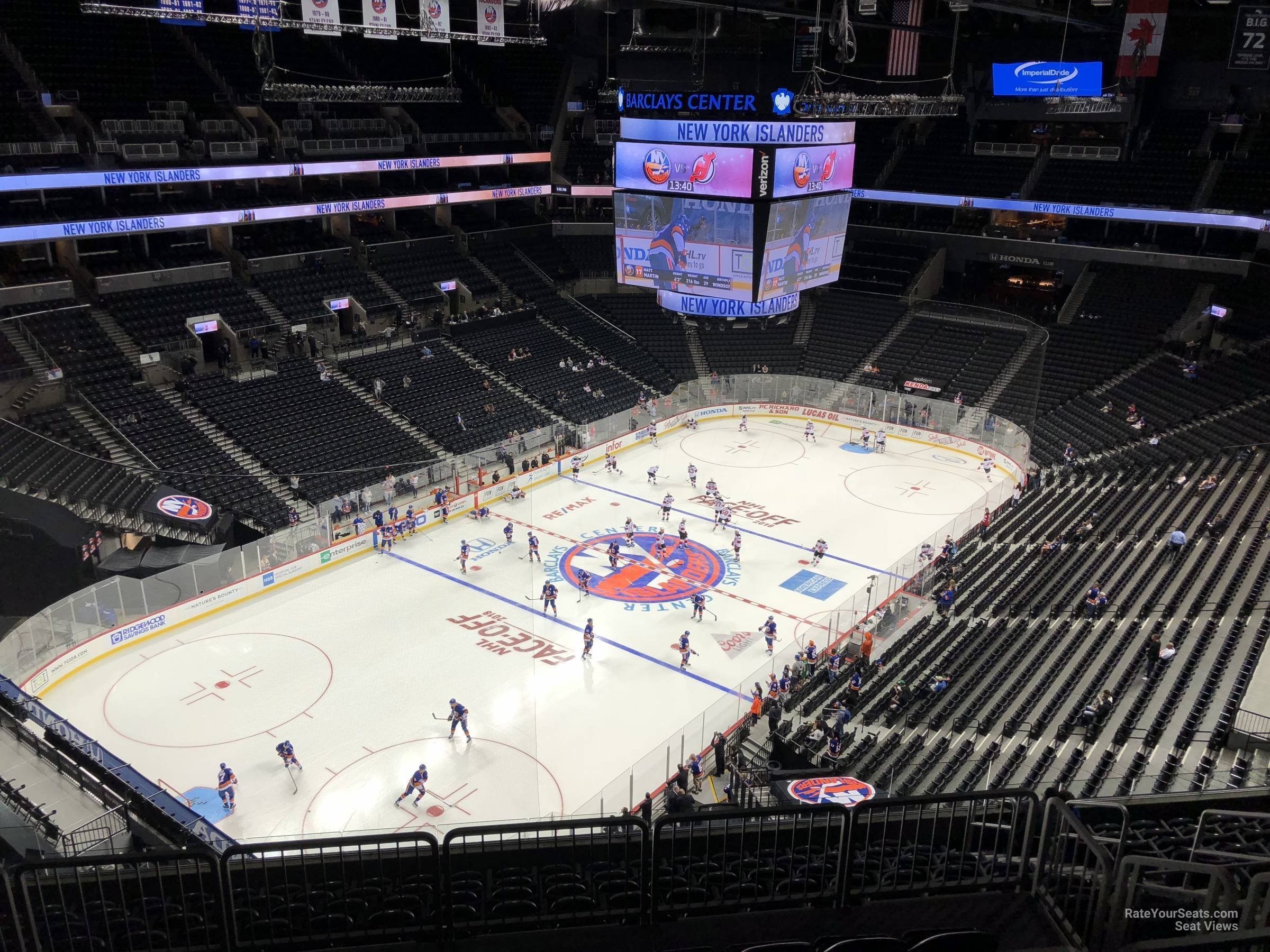 New York Islanders Seat View for Barclays Center Section 229, Row 13