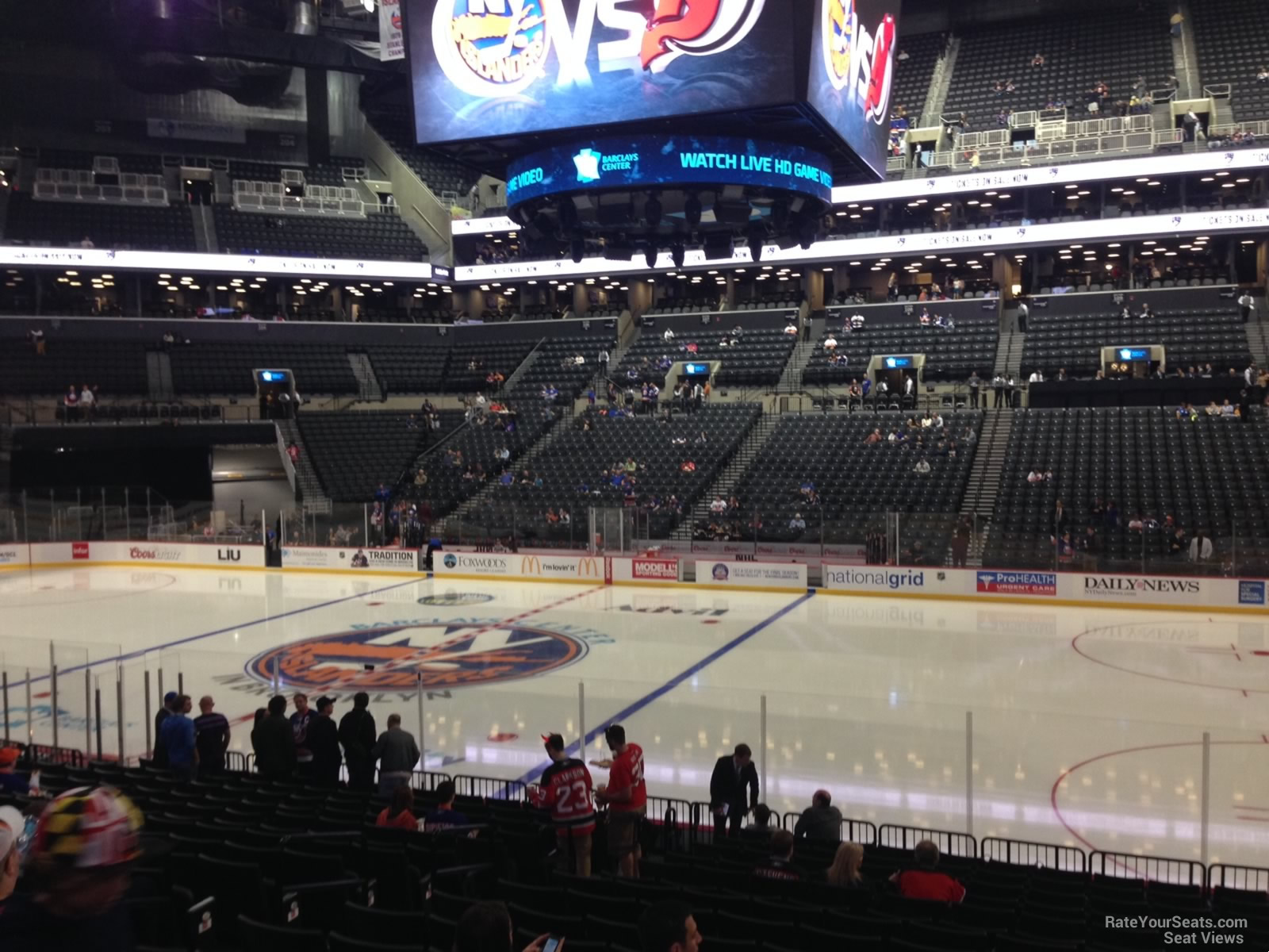 New York Islanders Seat View for Barclays Center Section 23, Row 17