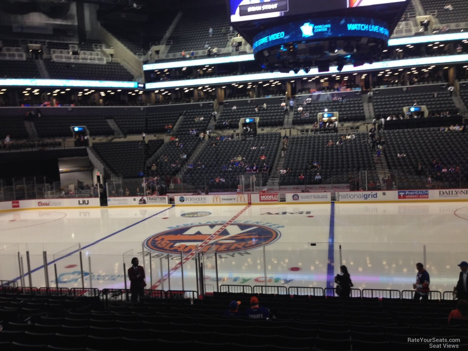 New York Islanders Seat View for Barclays Center Section 24, Row 17