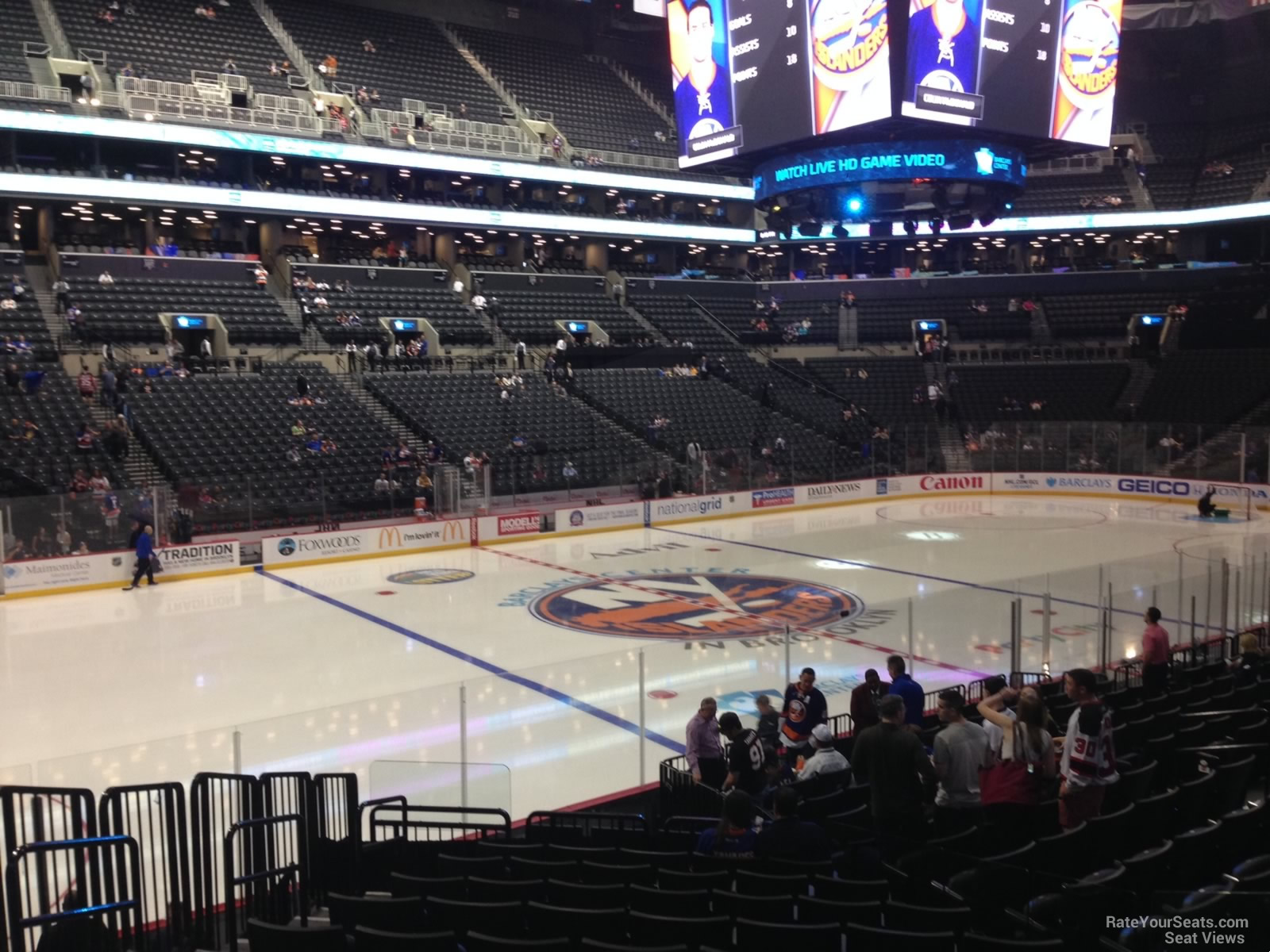 New York Islanders Seat View for Barclays Center Section 28, Row 17