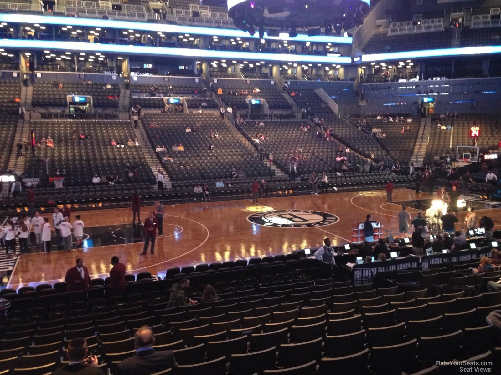 Brooklyn Nets Seat View for Barclays Center Section 9, Row 14