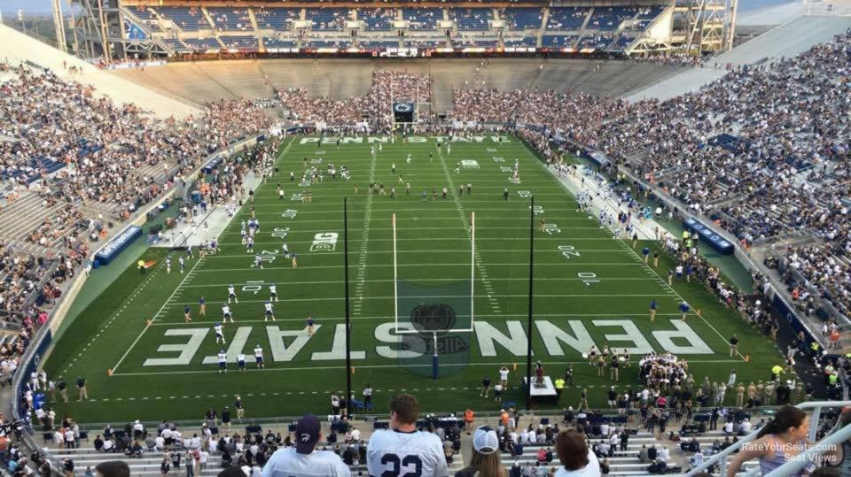 Seat View for Beaver Stadium Section NFU, Row 64