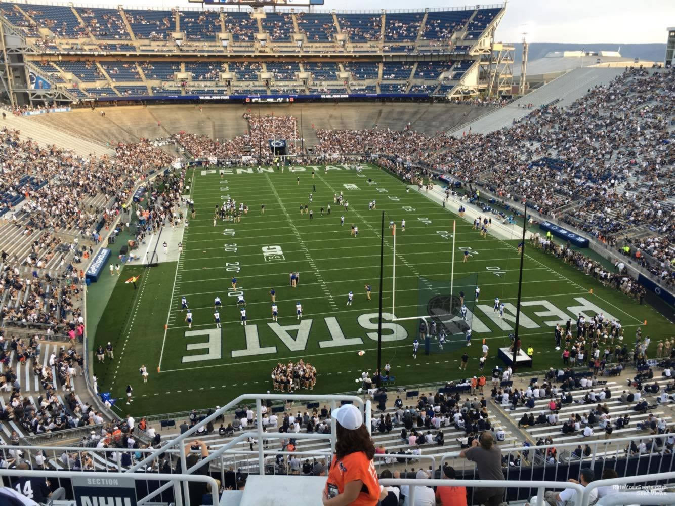 Seat View for Beaver Stadium Section NHU, Row 64