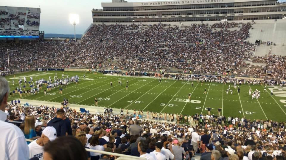 Seat View for Beaver Stadium Section WCU, Row 44