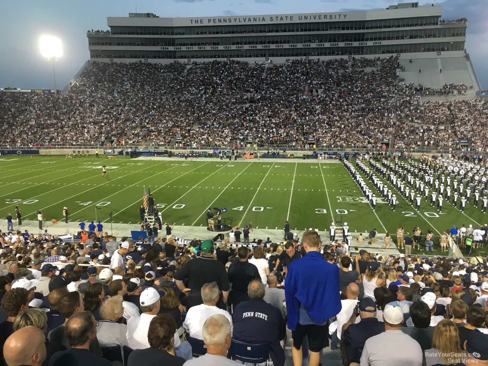 Seat View for Beaver Stadium Section WD, Row 25