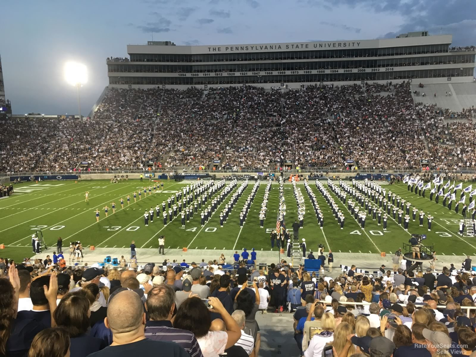 Seat View for Beaver Stadium Section WE, Row 25