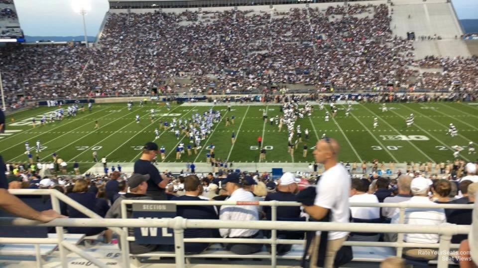 Seat View for Beaver Stadium Section WEU, Row 44