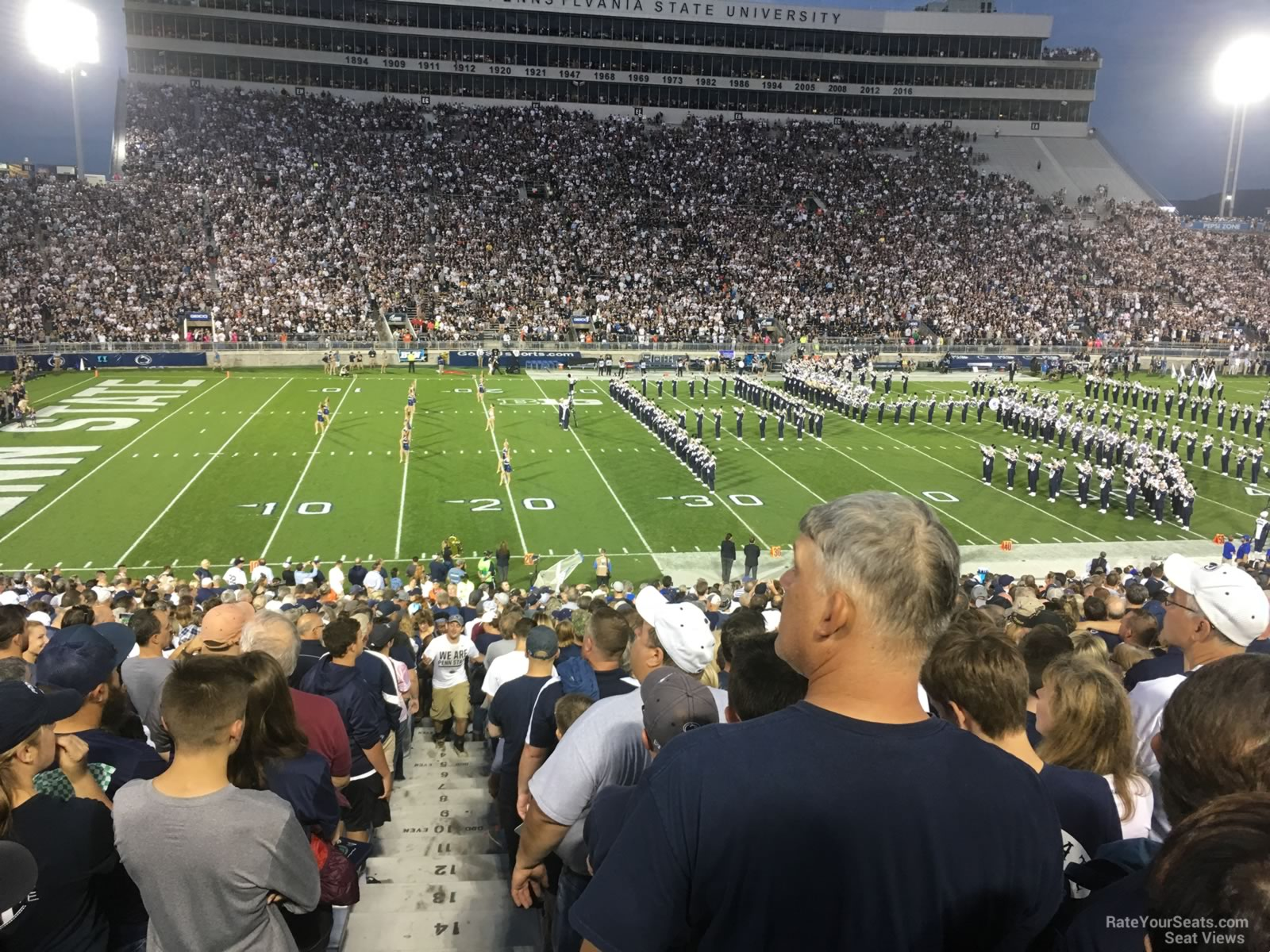 Seat View for Beaver Stadium Section WG, Row 25