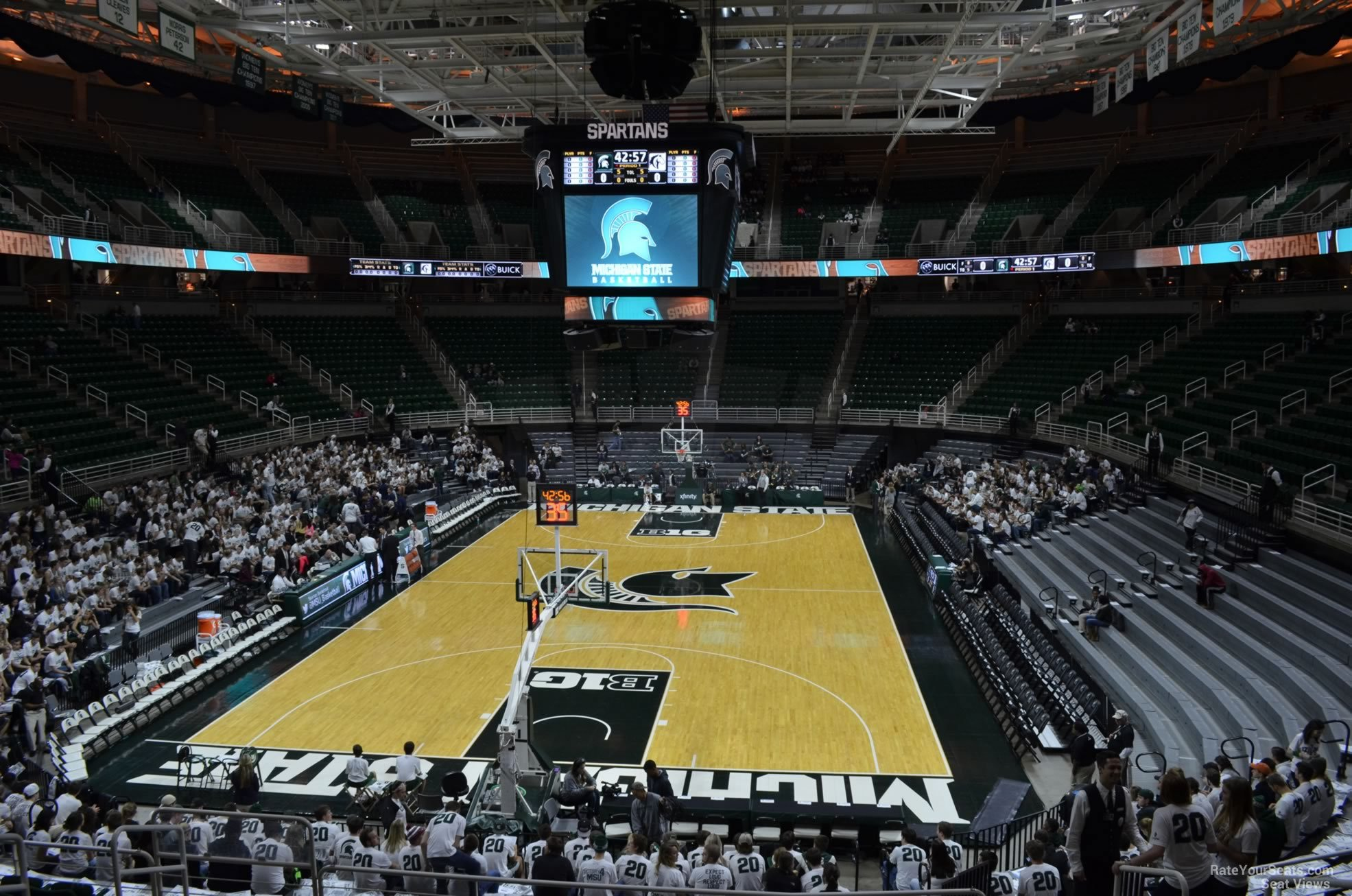 Seat View for Breslin Center Section 101, Row 22