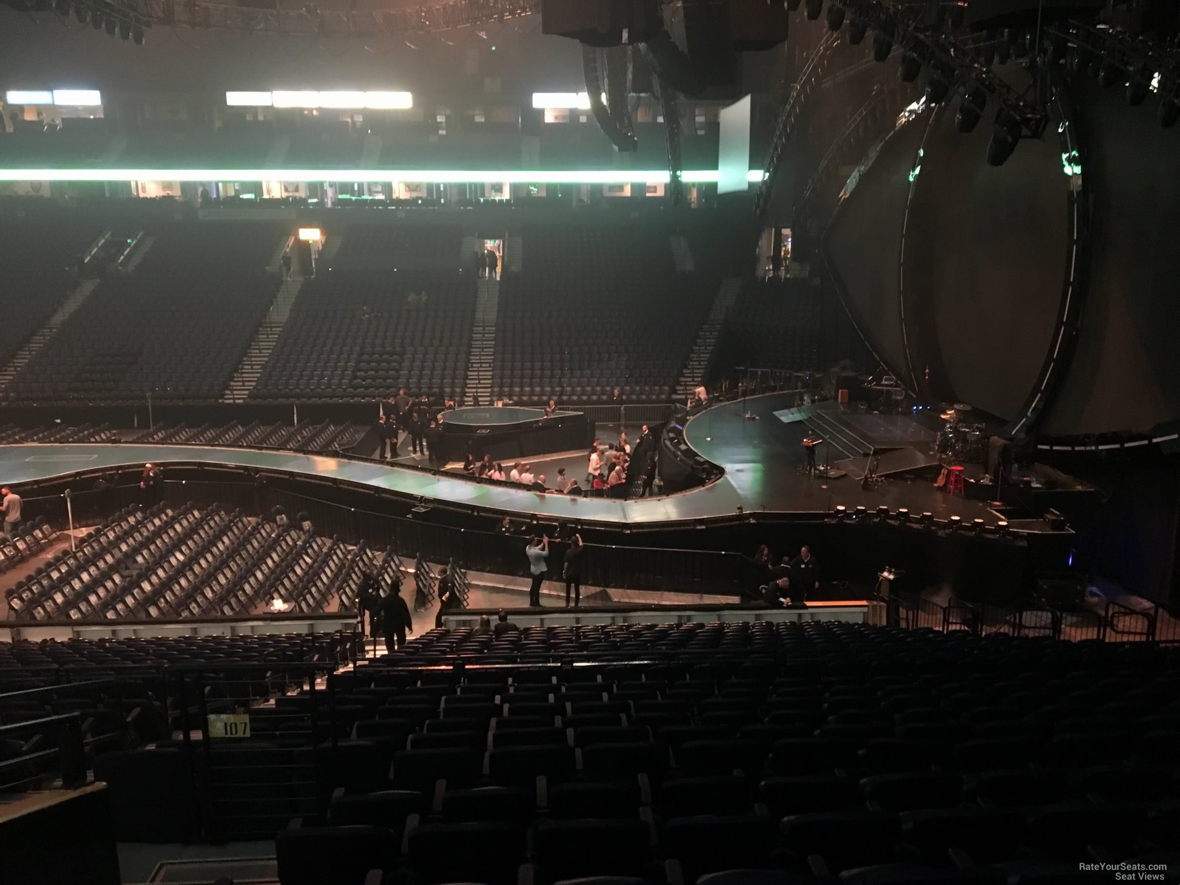 Concert Seat View for Bridgestone Arena Section 107, Row N