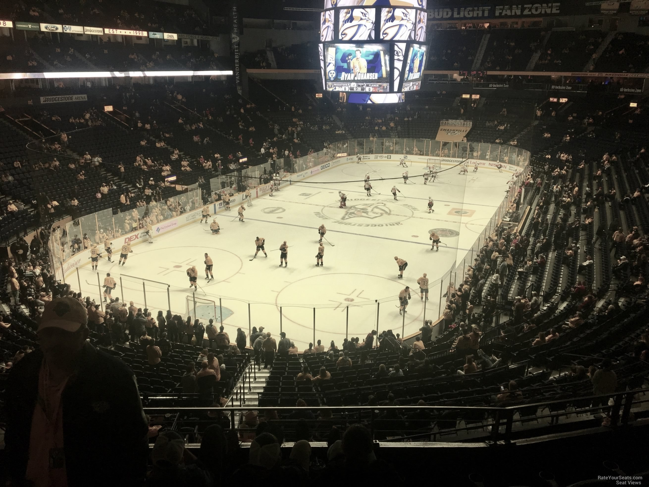 Nashville Predators Seat View for Bridgestone Arena Section 203, Row E