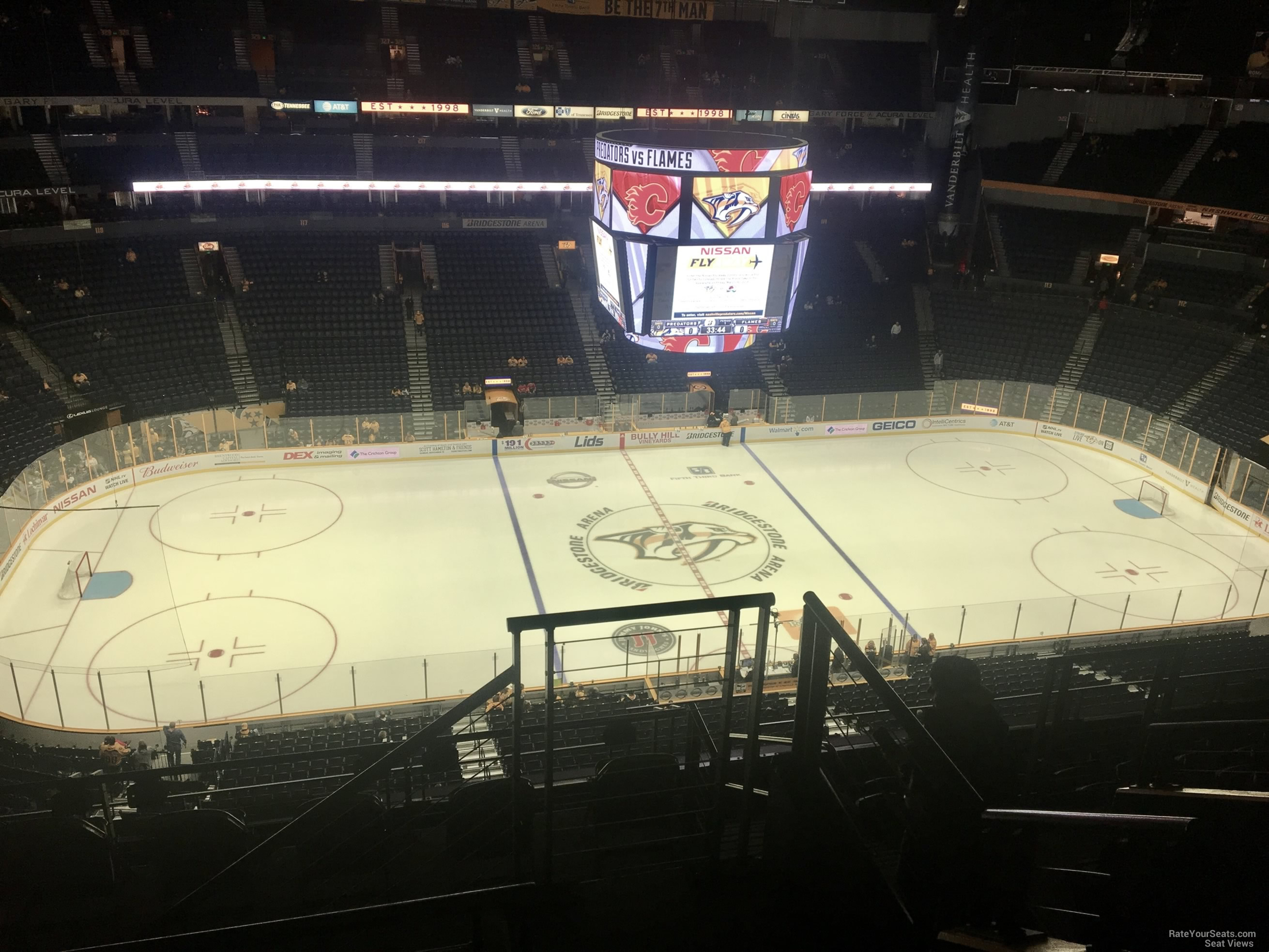 Nashville Predators Seat View for Bridgestone Arena Section 308, Row J