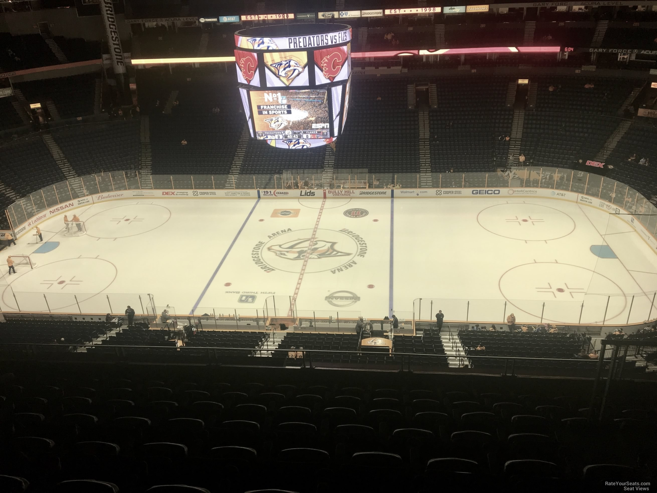 Nashville Predators Seat View for Bridgestone Arena Section 326, Row J