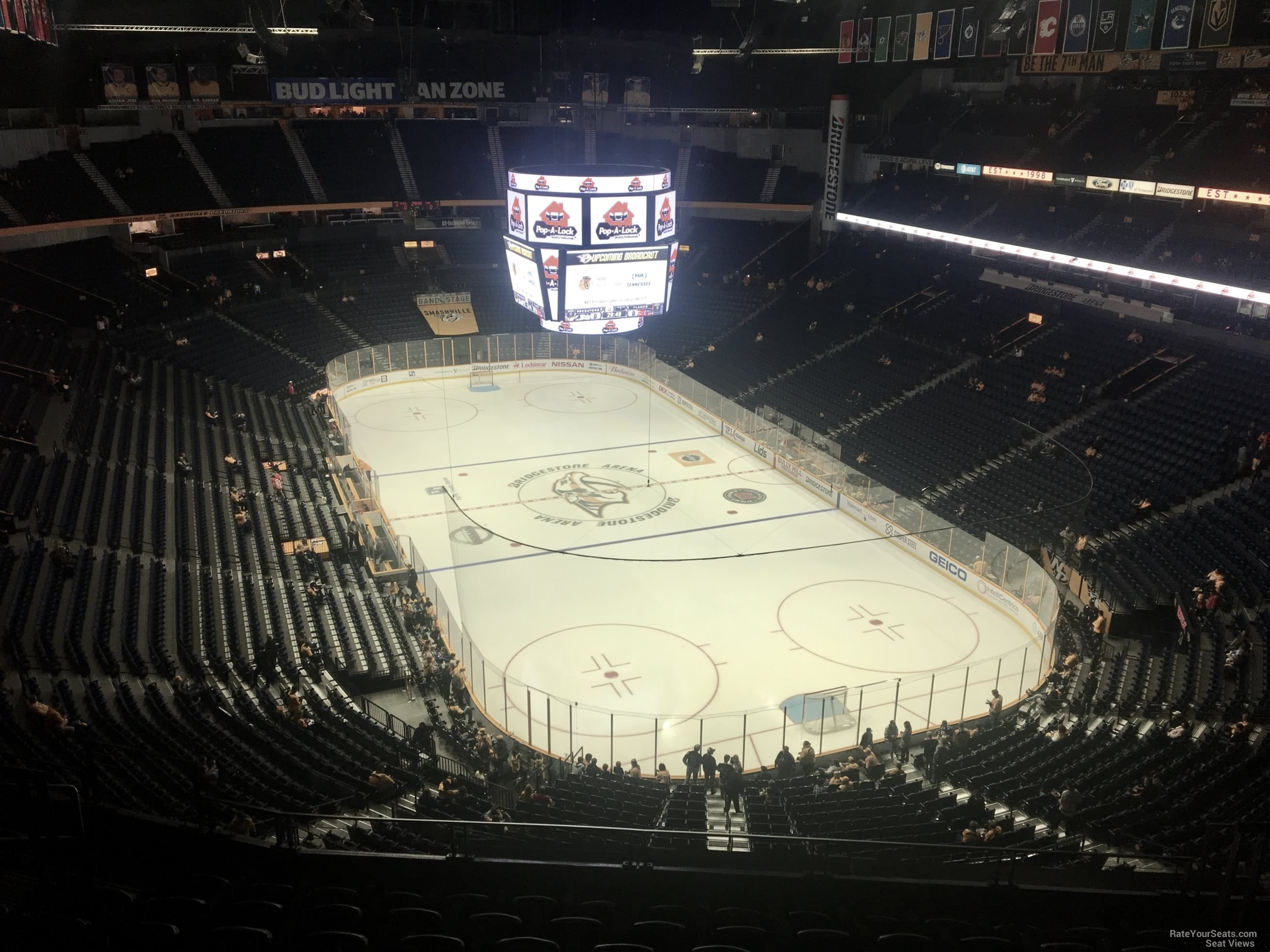Nashville Predators Seat View for Bridgestone Arena Section 332, Row J