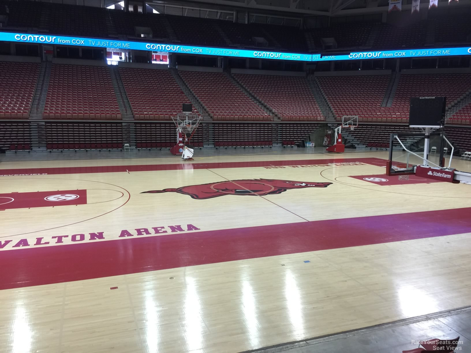 Seat View for Bud Walton Arena Section 101, Row 1