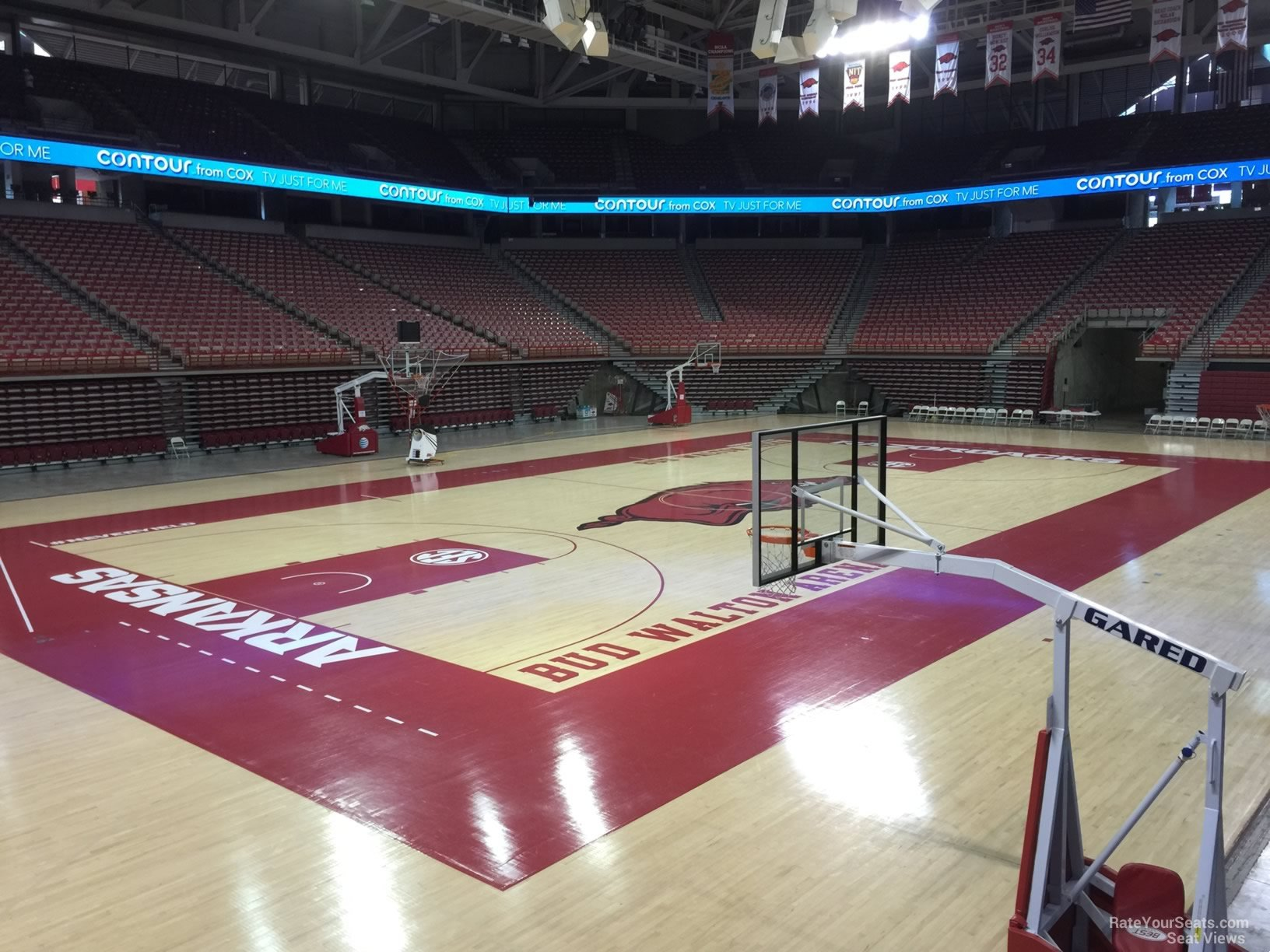 Seat View for Bud Walton Arena Section 104, Row 1