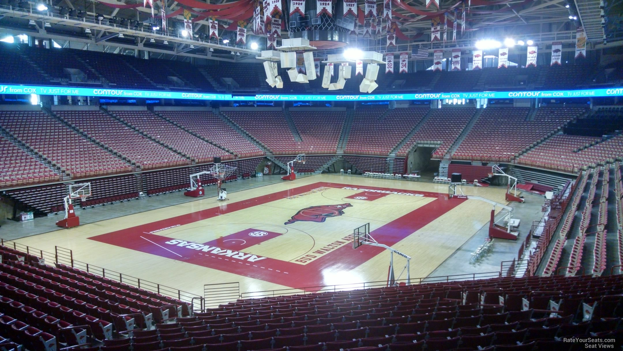 Seat View for Bud Walton Arena Section 105, Row 20