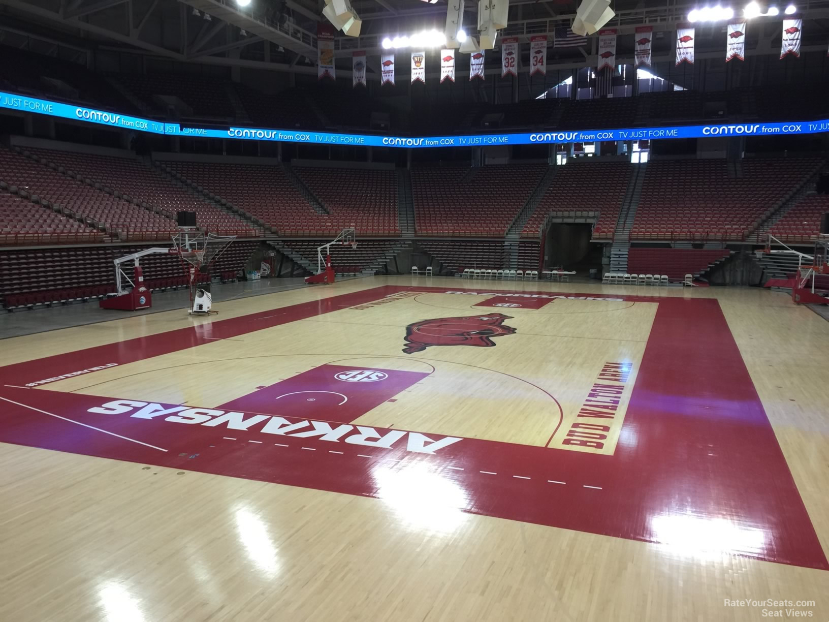 Seat View for Bud Walton Arena Section 107, Row 1