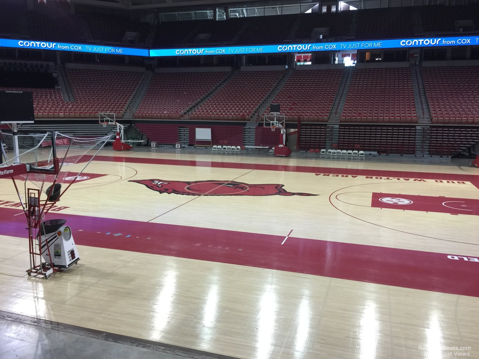 Seat View for Bud Walton Arena Section 117, Row 1