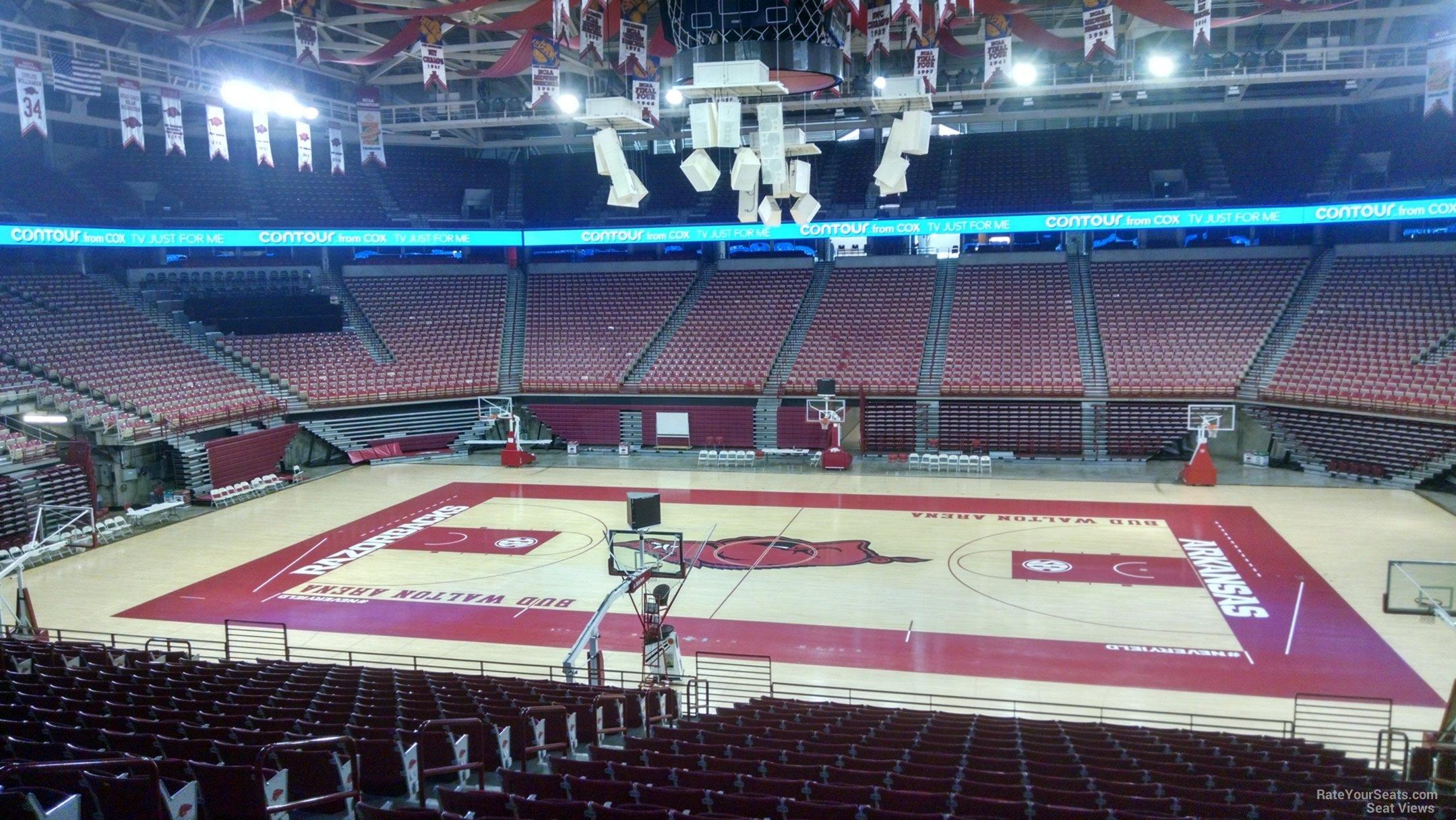 Bud Walton Arena Section 117 Rateyourseatscom