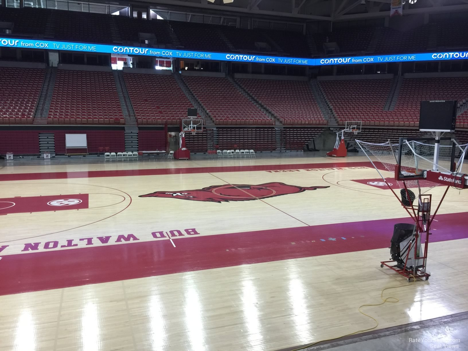 Seat View for Bud Walton Arena Section 119, Row 1
