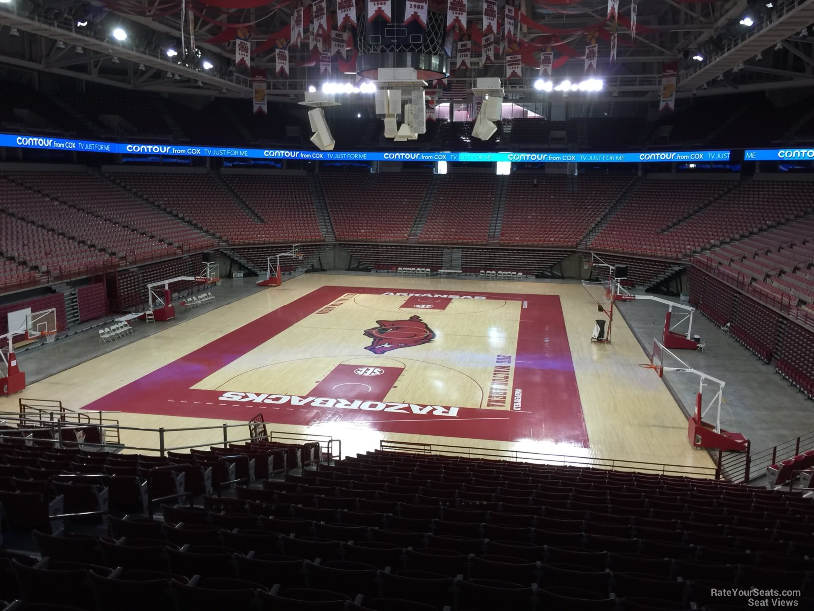 Seat View for Bud Walton Arena Section 126, Row 20