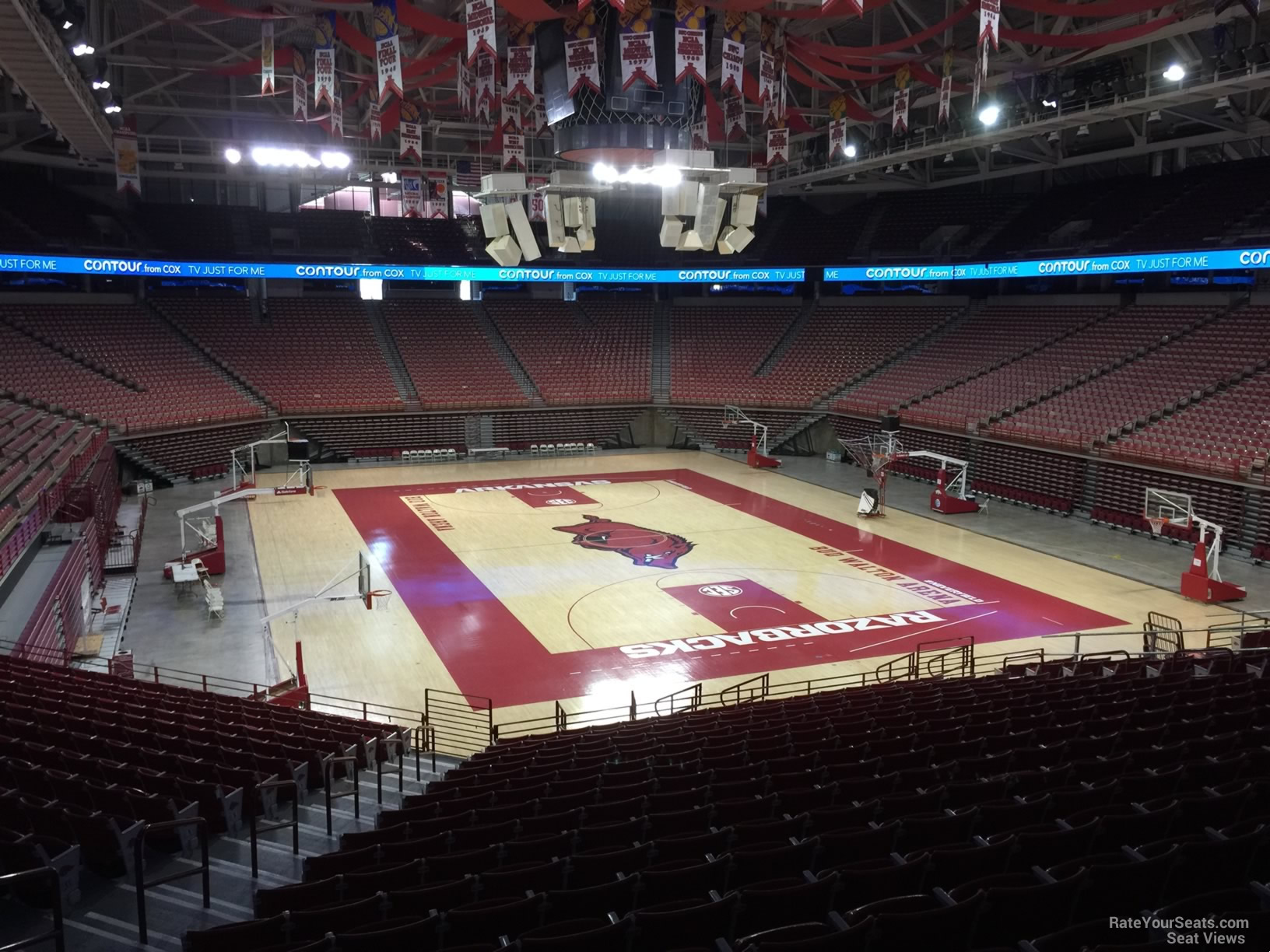 Seat View for Bud Walton Arena Section 129, Row 20